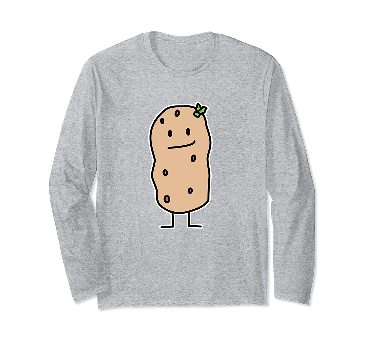 Happy Potato sprout carb tater root vegetable starch Long Sleeve T-Shirt