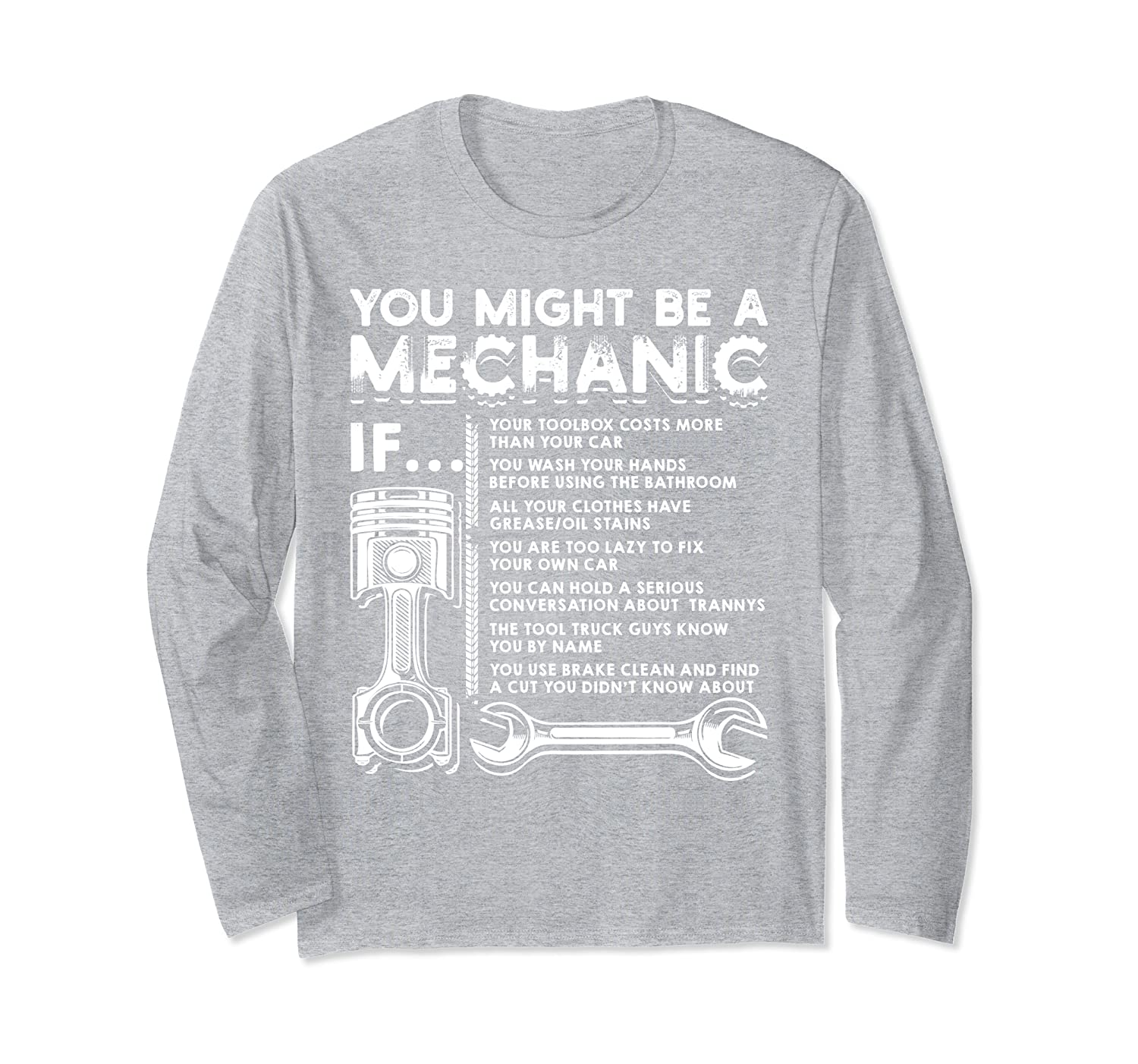 You Might Be A Mechanic If Funny Mechanic Gift Long Sleeve T-Shirt-Awarplus