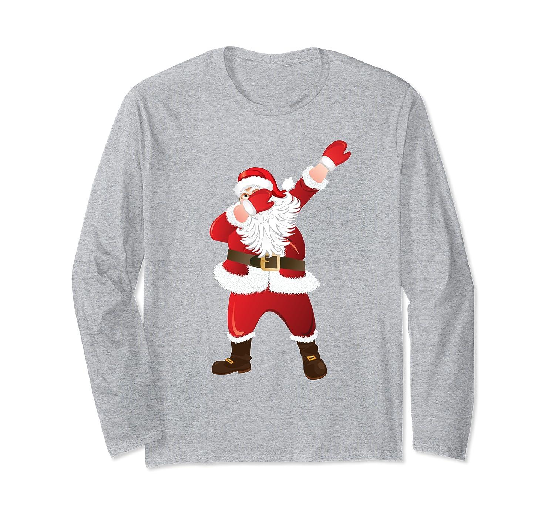 Dabbing Santa Claus Dab Hip Hop Merry Christmas Ugly Sweater Long Sleeve T-Shirt