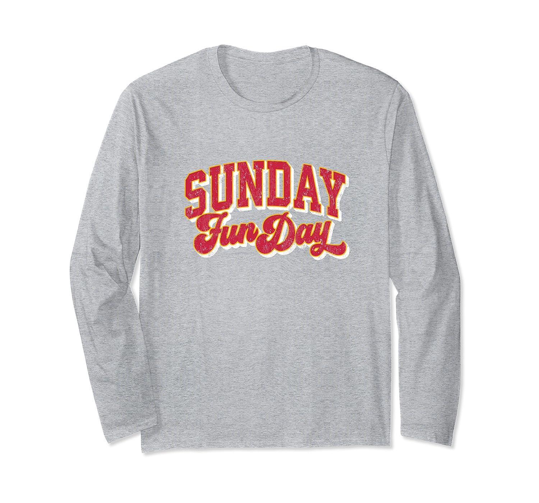 Vintage Sunday Funday Kansas City Football Retro Fun Day Long Sleeve T-Shirt-TH