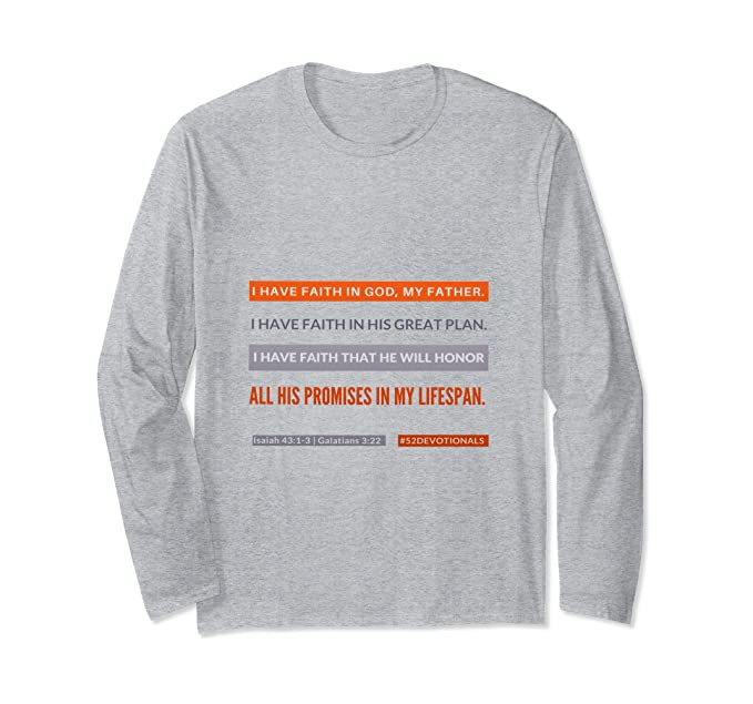 heather Grey Christian Shirts for Women I Have Faith #52Devotionals by Anna Szabo