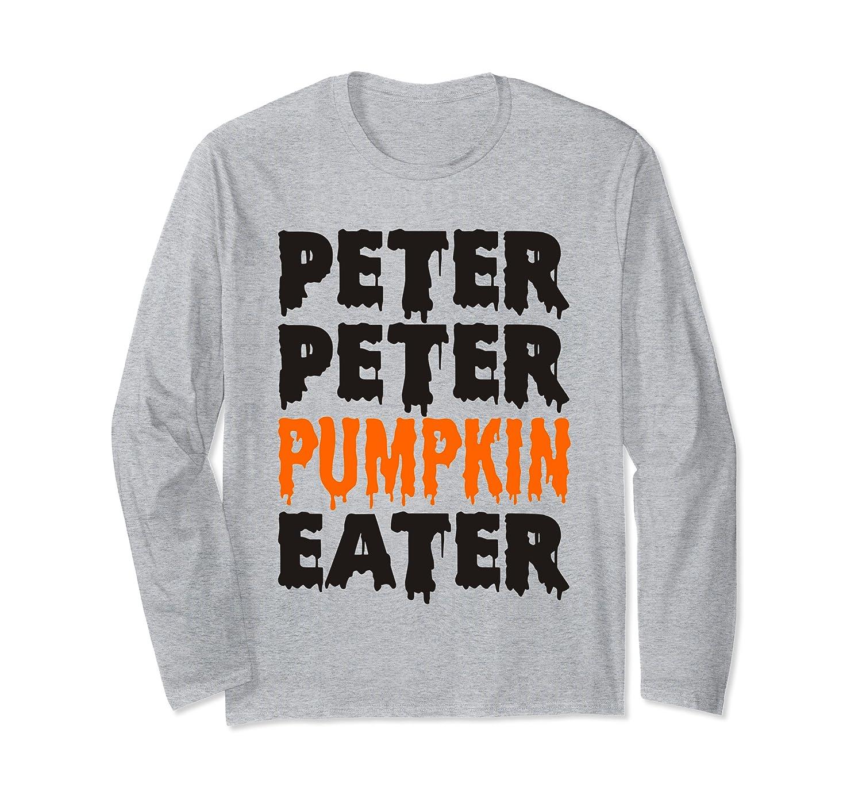 Adult Halloween Costume for Couples Peter Pumpkin Eater Mens Long Sleeve T-Shirt