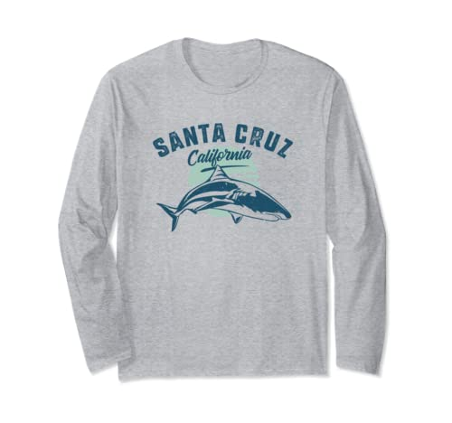 Retro Santa Cruz California Shark Long Sleeve T Shirt