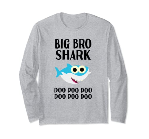 Big Bro Brother Shark Doo Doo Christmas Matching Gift Long Sleeve T Shirt