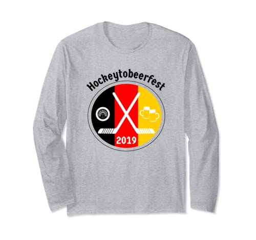 Octoberfest + Hockey + Beer = Hockeytobeerfest Long Sleeve T Shirt