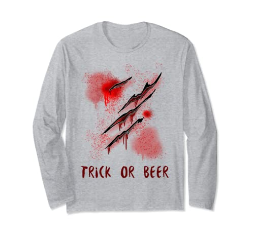 I'm Fine Graphic Novelty Sarcastic Zombie Trick Or Beer Long Sleeve T Shirt