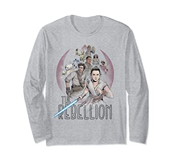 Amazon Com Star Wars The Rise Of Skywalker The Rebellion Heroes Long Sleeve T Shirt Clothing