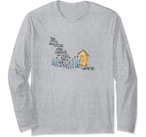 Dr. Seuss Oh The Places You'll Go   The Waiting Place Long Sleeve T Shirt