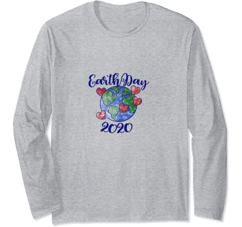 Earth Day 2020 Watercolor Long Sleeve T Shirt