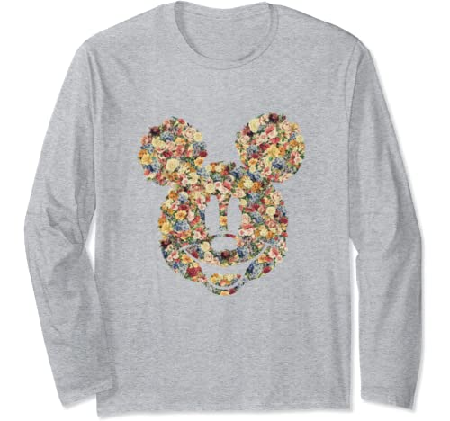 Disney Mickey And Friends Mickey Mouse Floral Fill Long Sleeve T Shirt