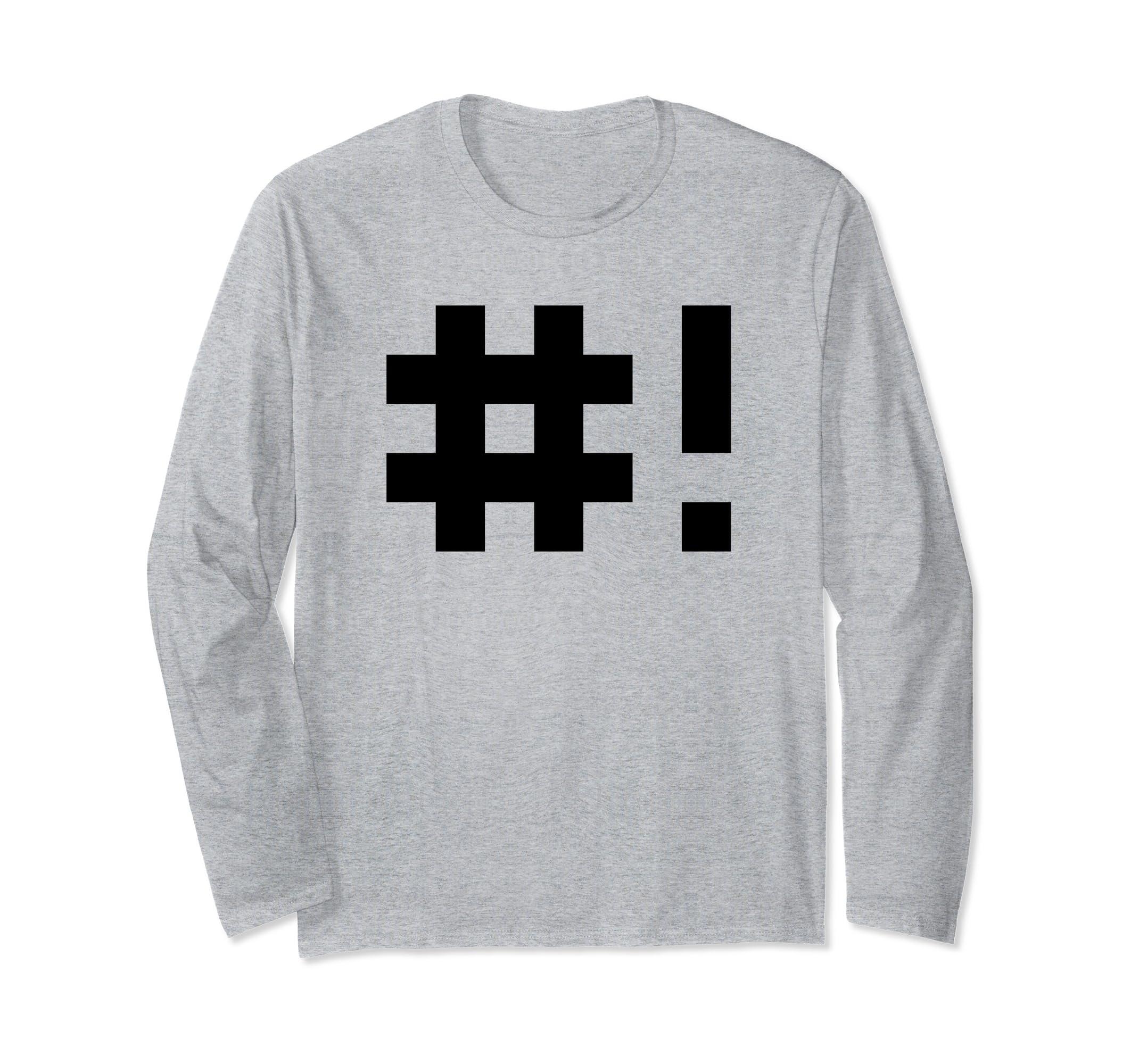 #! Hashbang Long Sleeve Shirt for Command Line Hackers-ln