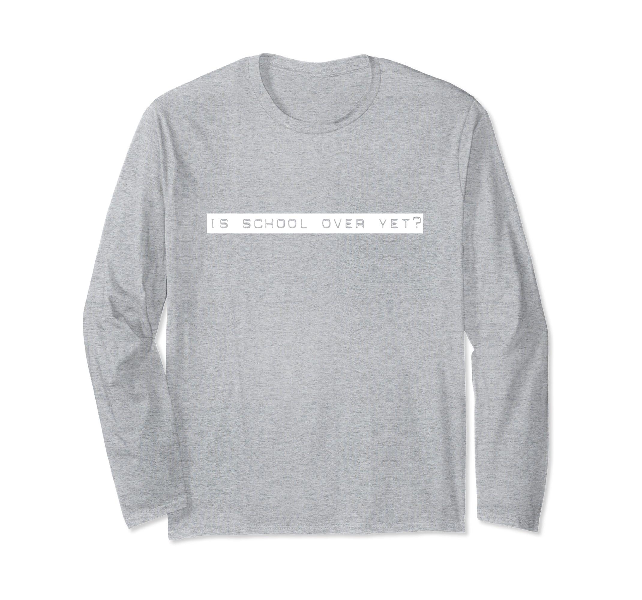 Funny Back to School Is School Over Yet Graduation Tee Shirt-ln