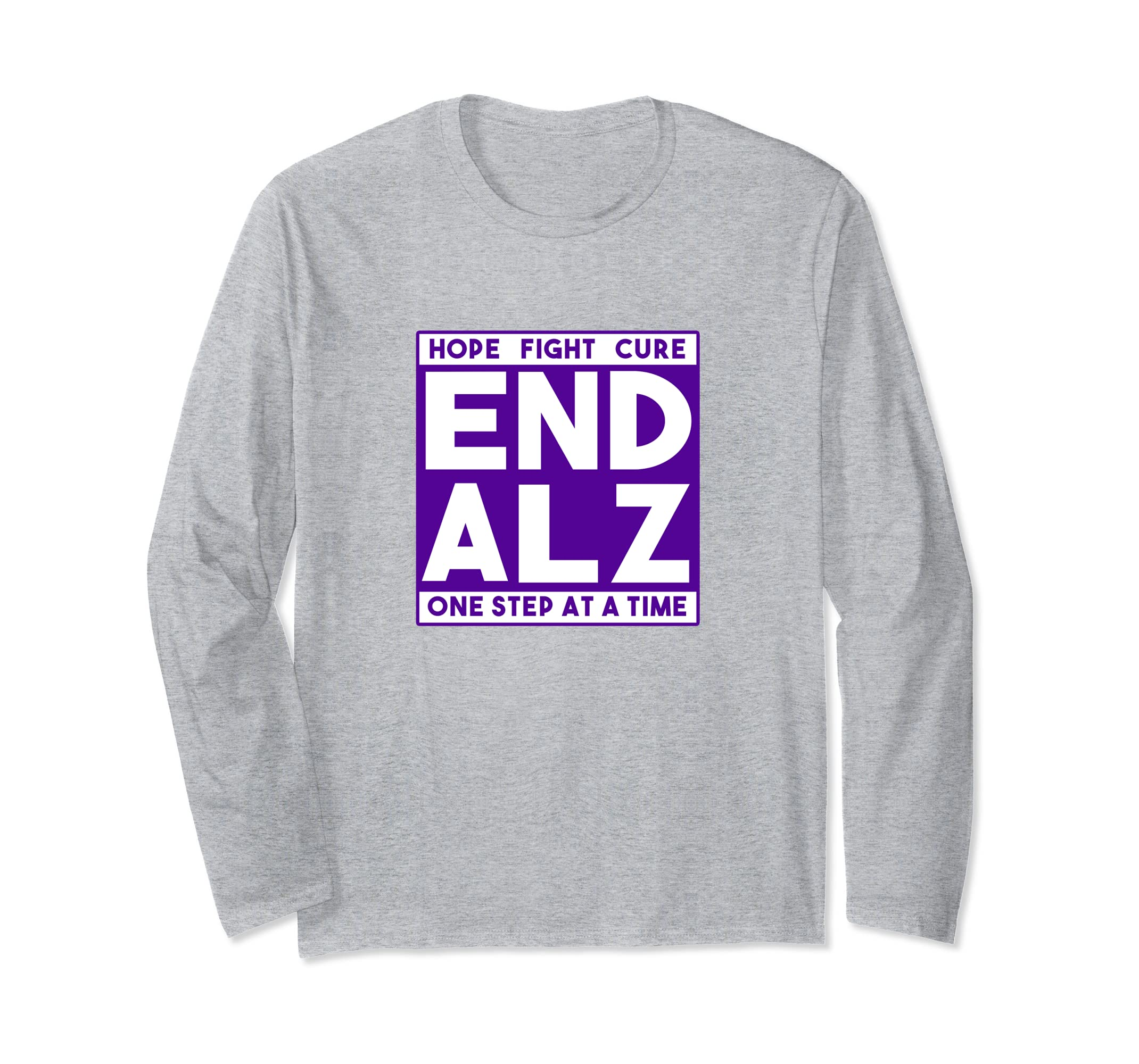Alzheimers Walk Long Sleeve T Shirt Hope Fight Cure-azvn