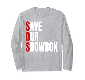 9e4ec29f829 Image Unavailable. Image not available for. Color  Save Our Show Box Long  Sleeve Shirt ...