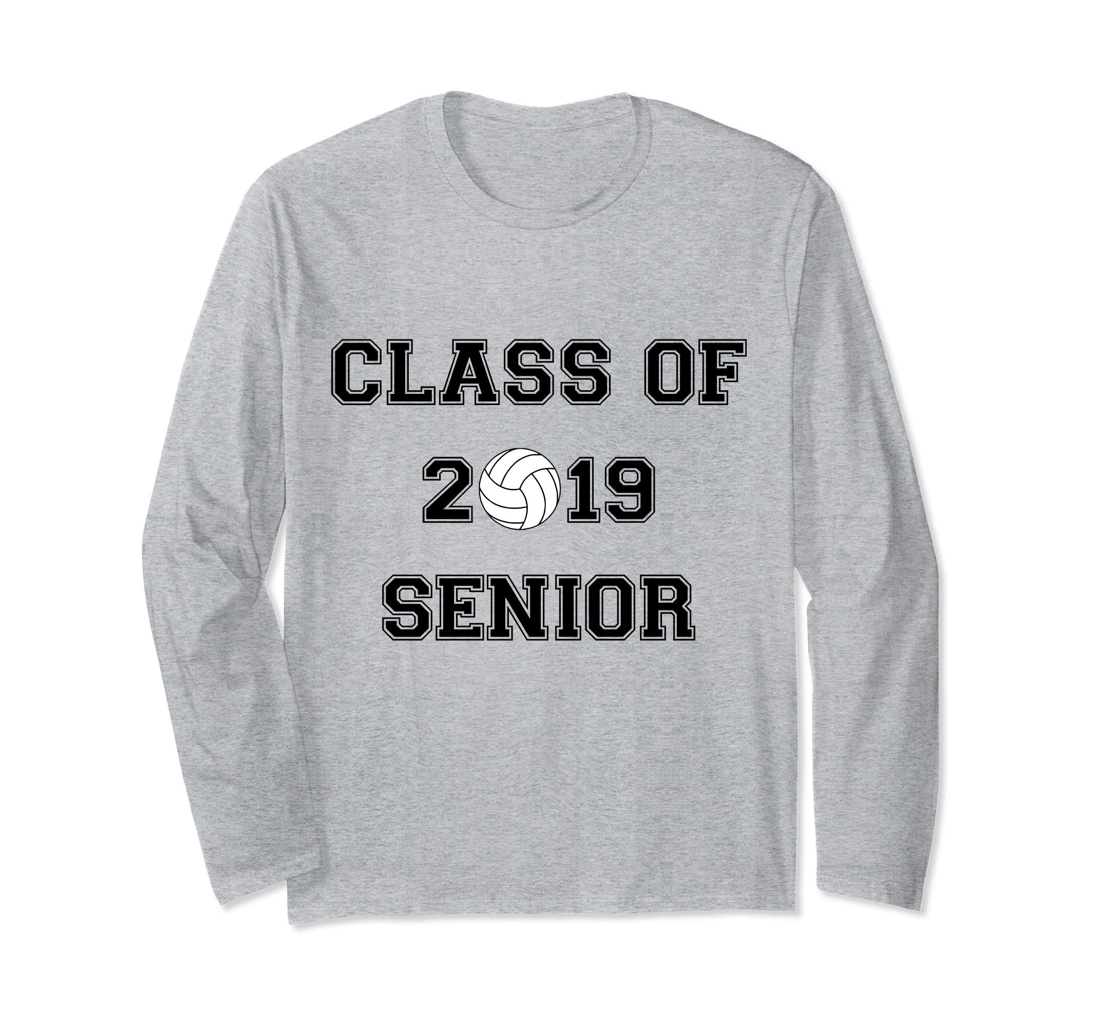 CLASS OF 2019 SENIOR VOLLEYBALL GRADUATION LONG SLEEVE SHIRT-ln