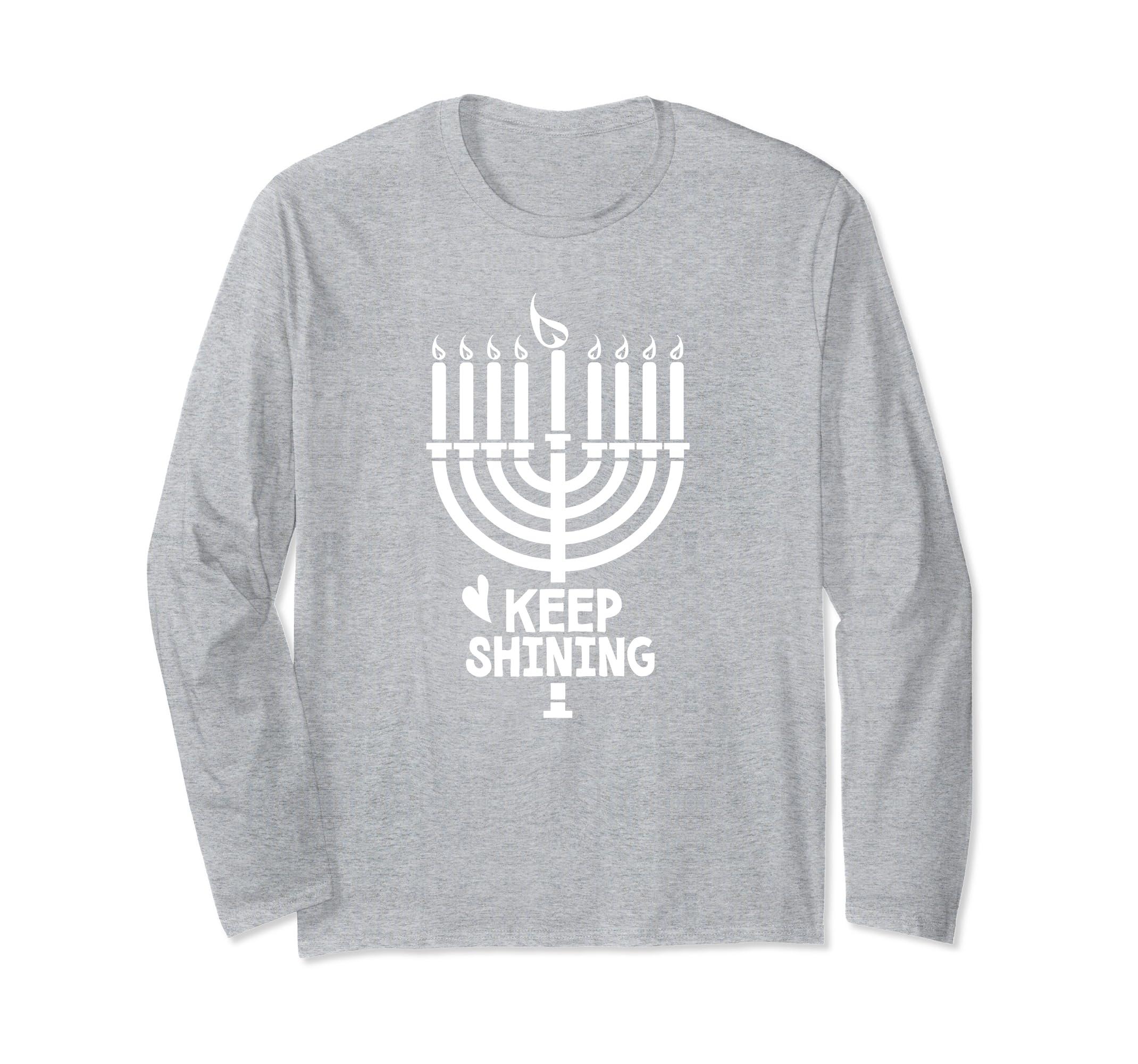 Free To Be Kids Hanukkah Shirt, Menorah Candles Holiday-SFL