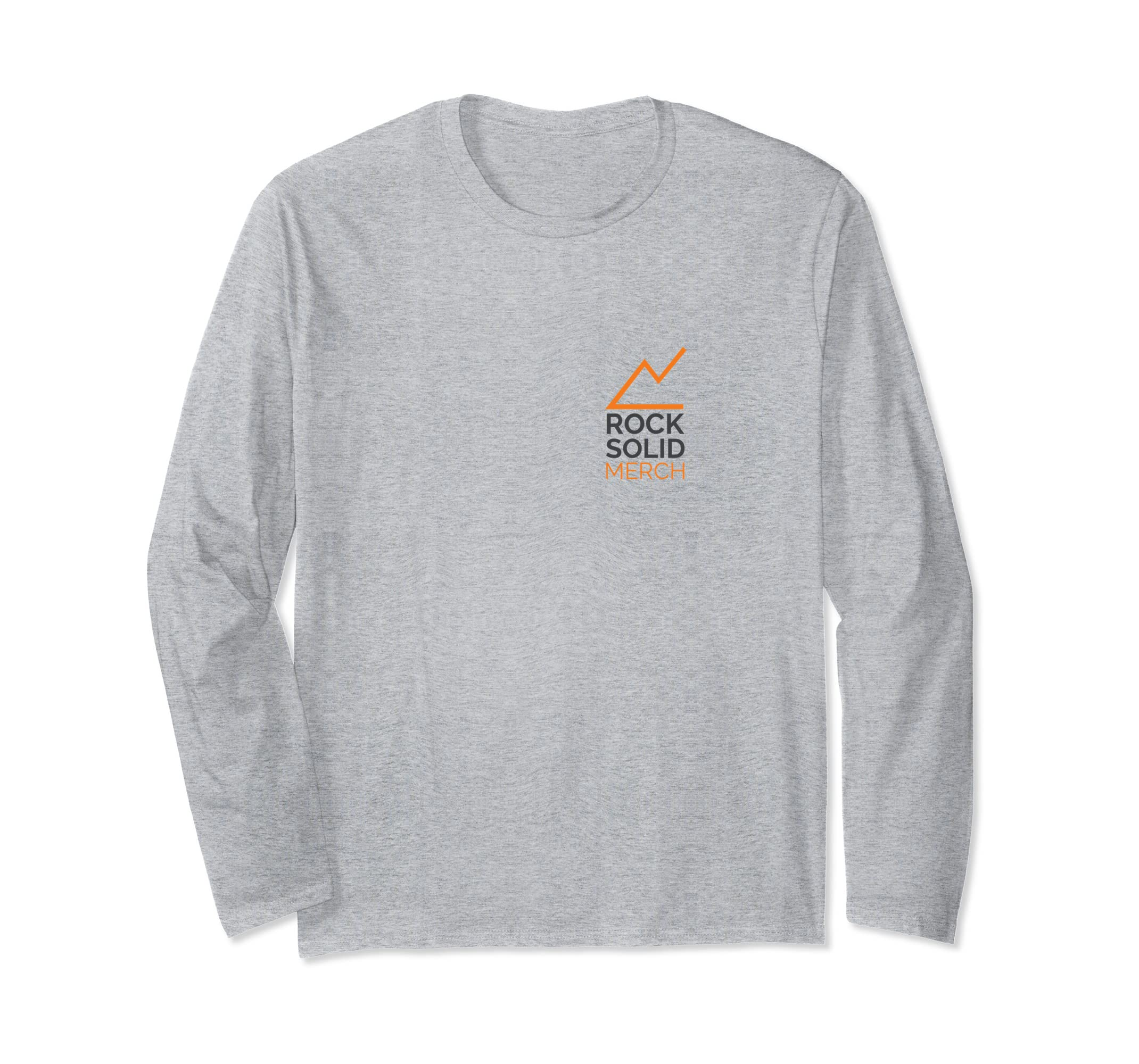 Rocksolid Merch Long sleeve Shirt | Front and Back Design-azvn
