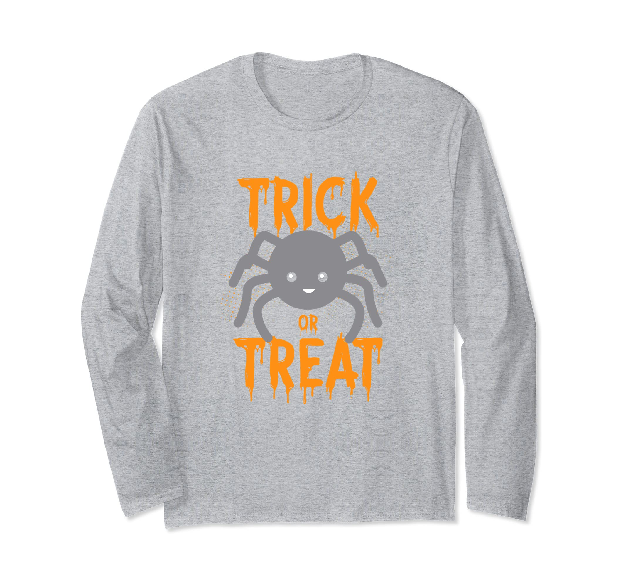 Cute Spider Trick Or Treat Halloween Long Sleeve Gift- TPT