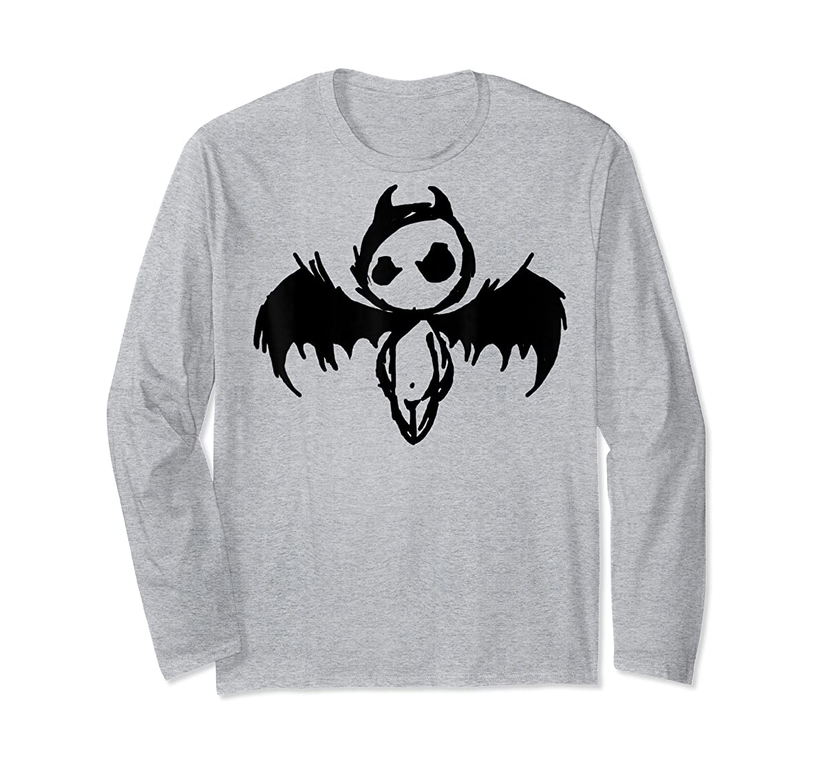 Cute Demon Vintage Couple Matching Halloween Party Costume  T-Shirt-Long Sleeve-Sport Grey