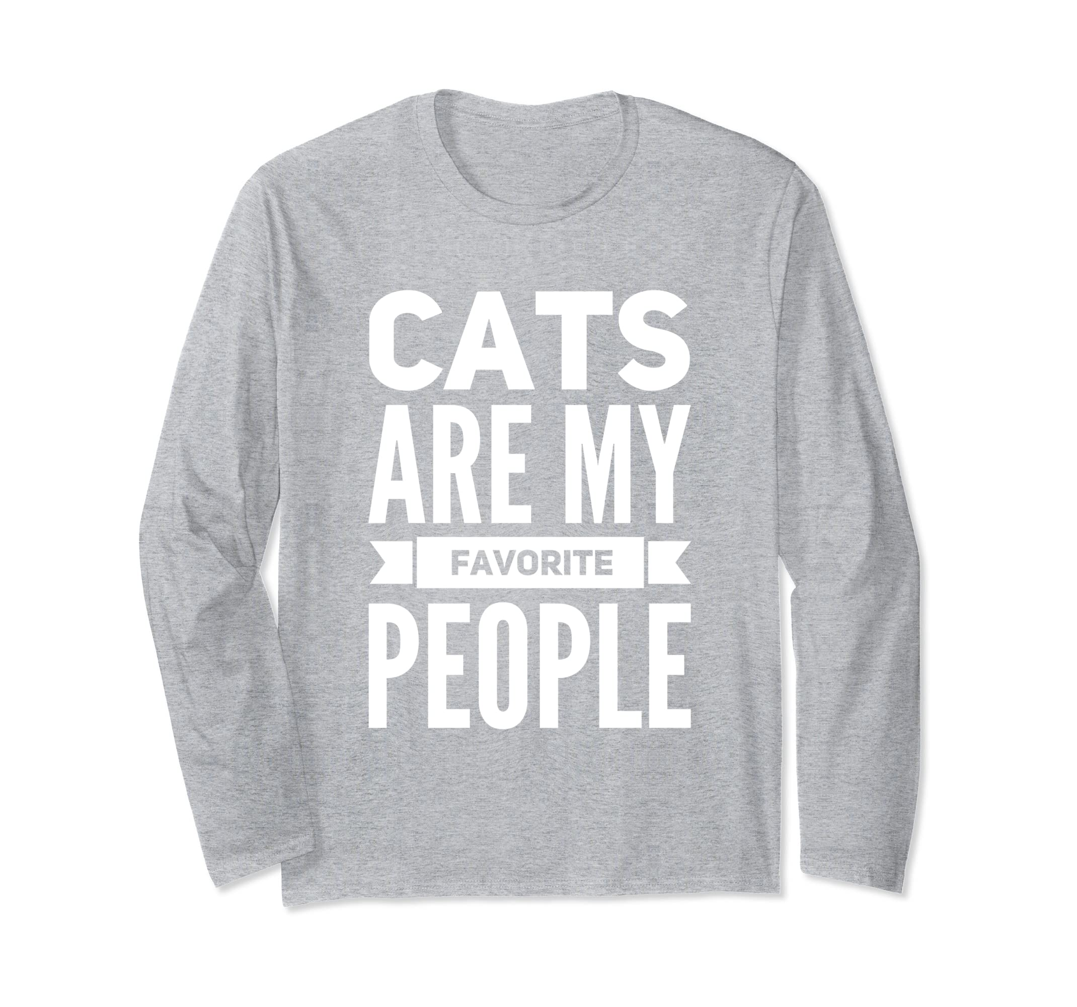 Cats Are My Favorite People Cat Lovers T Shirt Gift Idea-azvn