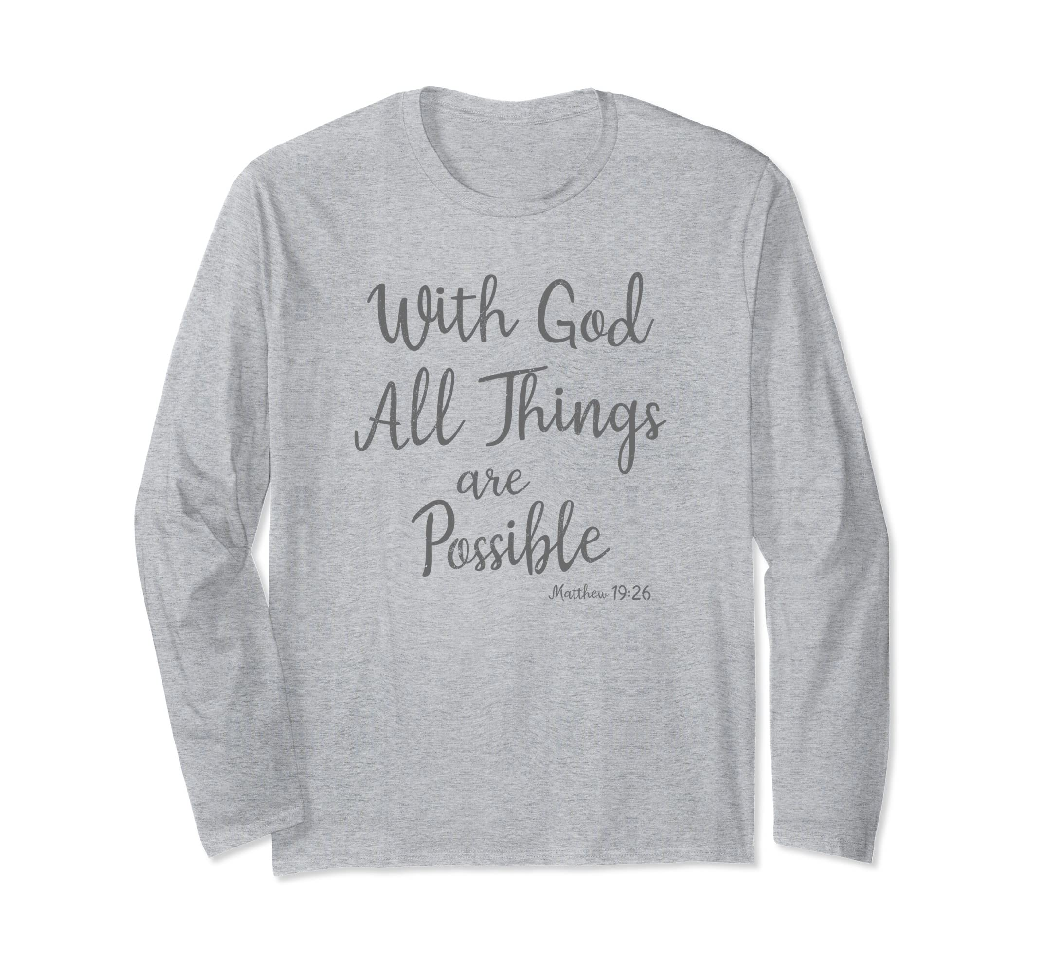 Cute Christian Shirts With Long Sleeves for Religious Women-mt