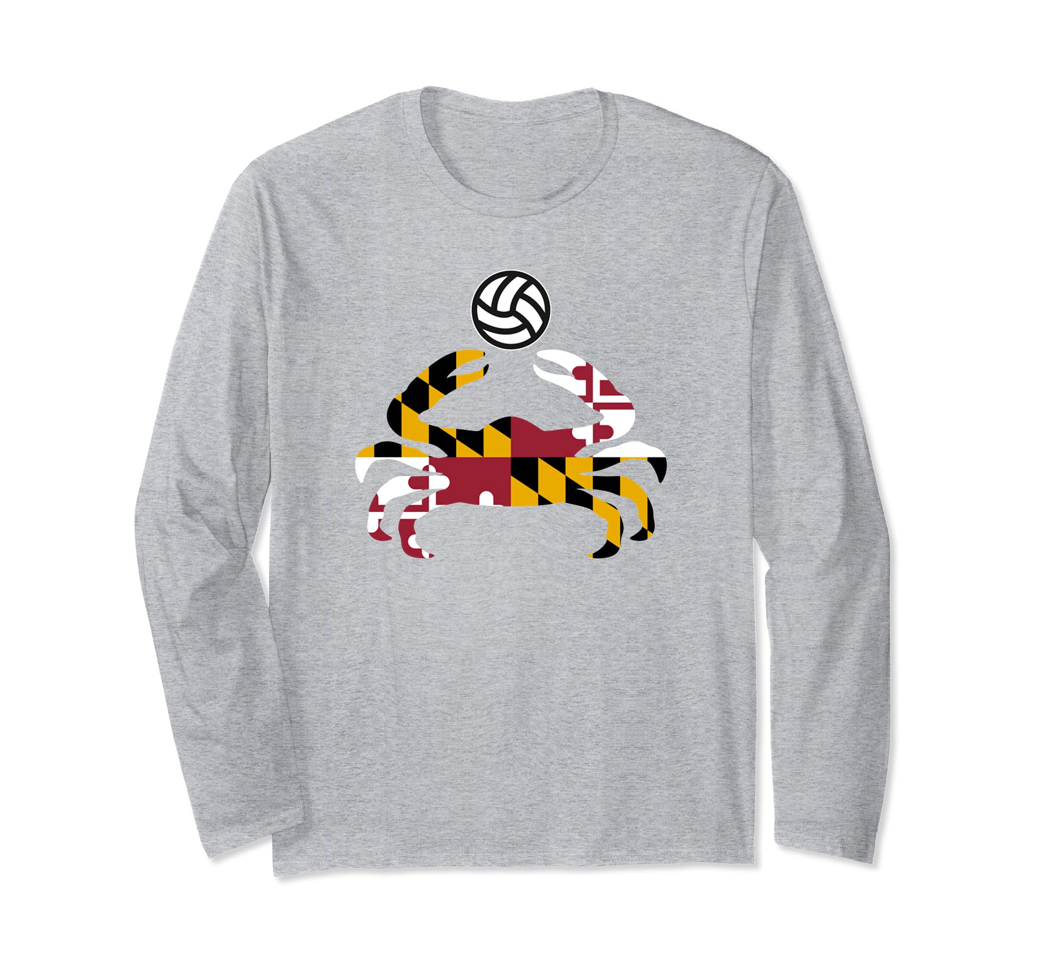 Maryland State Flag Blue Crab Pride T Shirt with volleyball-azvn