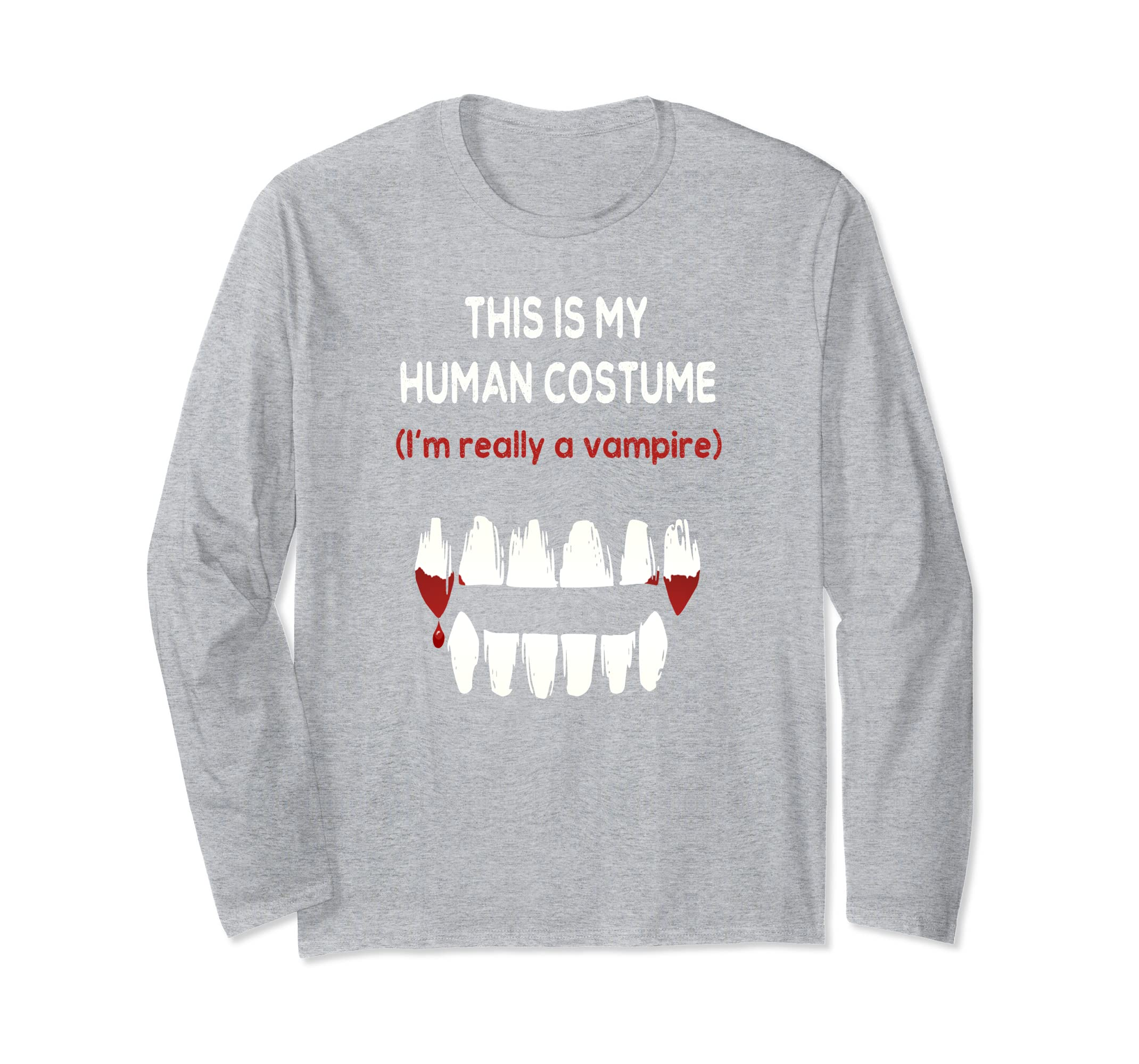 Halloween Vampire Costume Long Sleeve T-Shirt Trick or Treat-ANZ