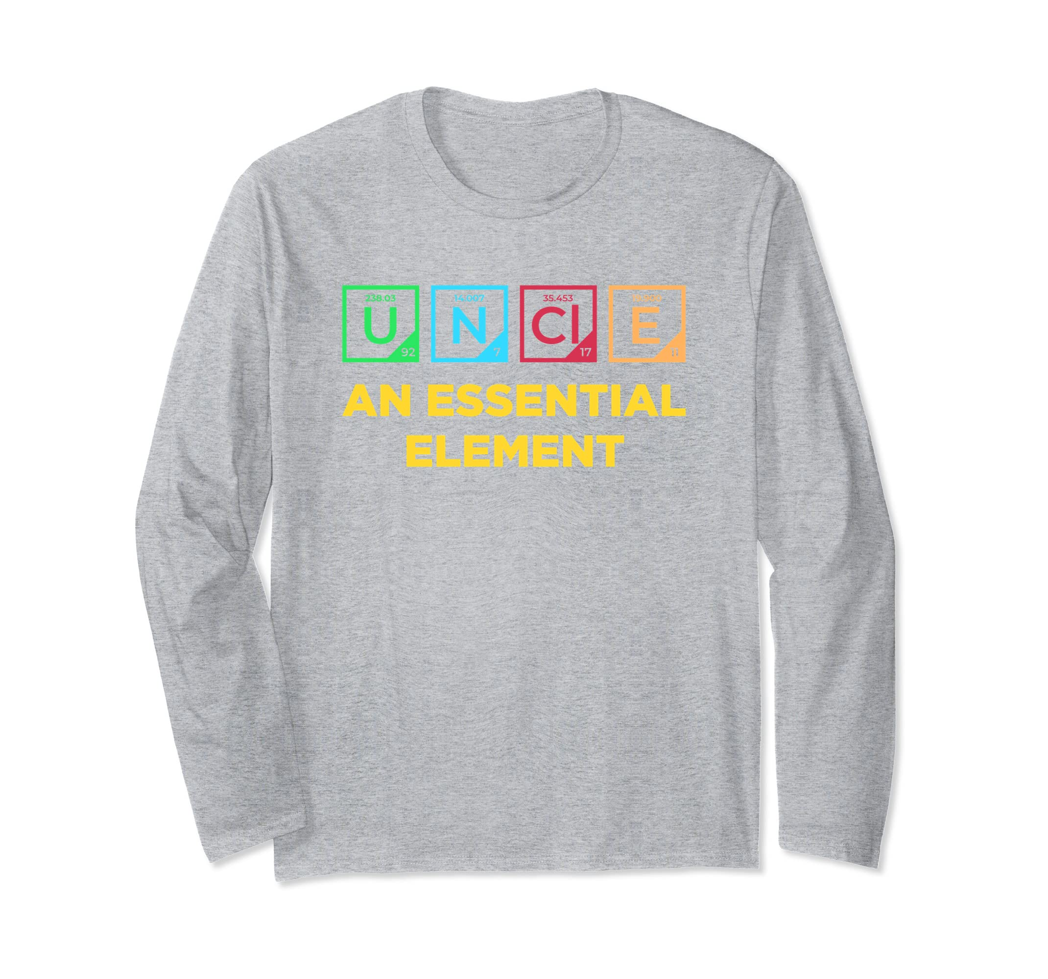 Funny Chemistry Uncle longsleeve shirt   Periodic Table-azvn