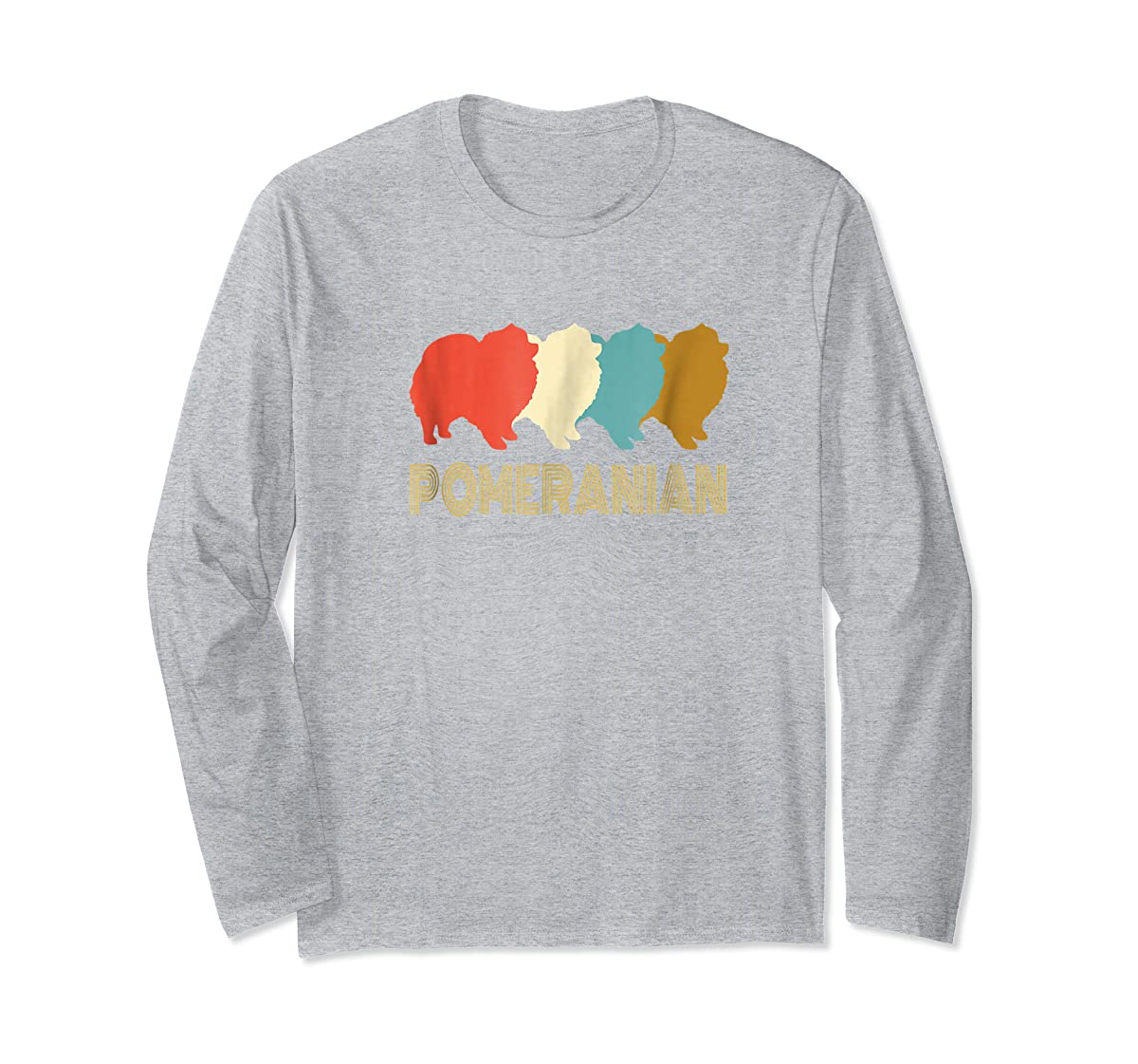 Vintage Pomeranian T-shirt, I Love My Pomeranian-Long Sleeve-Sport Grey
