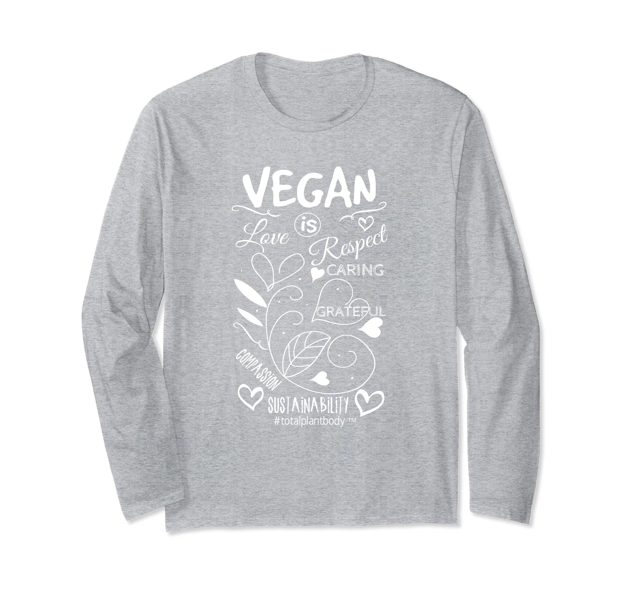 VEGAN is T Shirt (long sleeve)-mt
