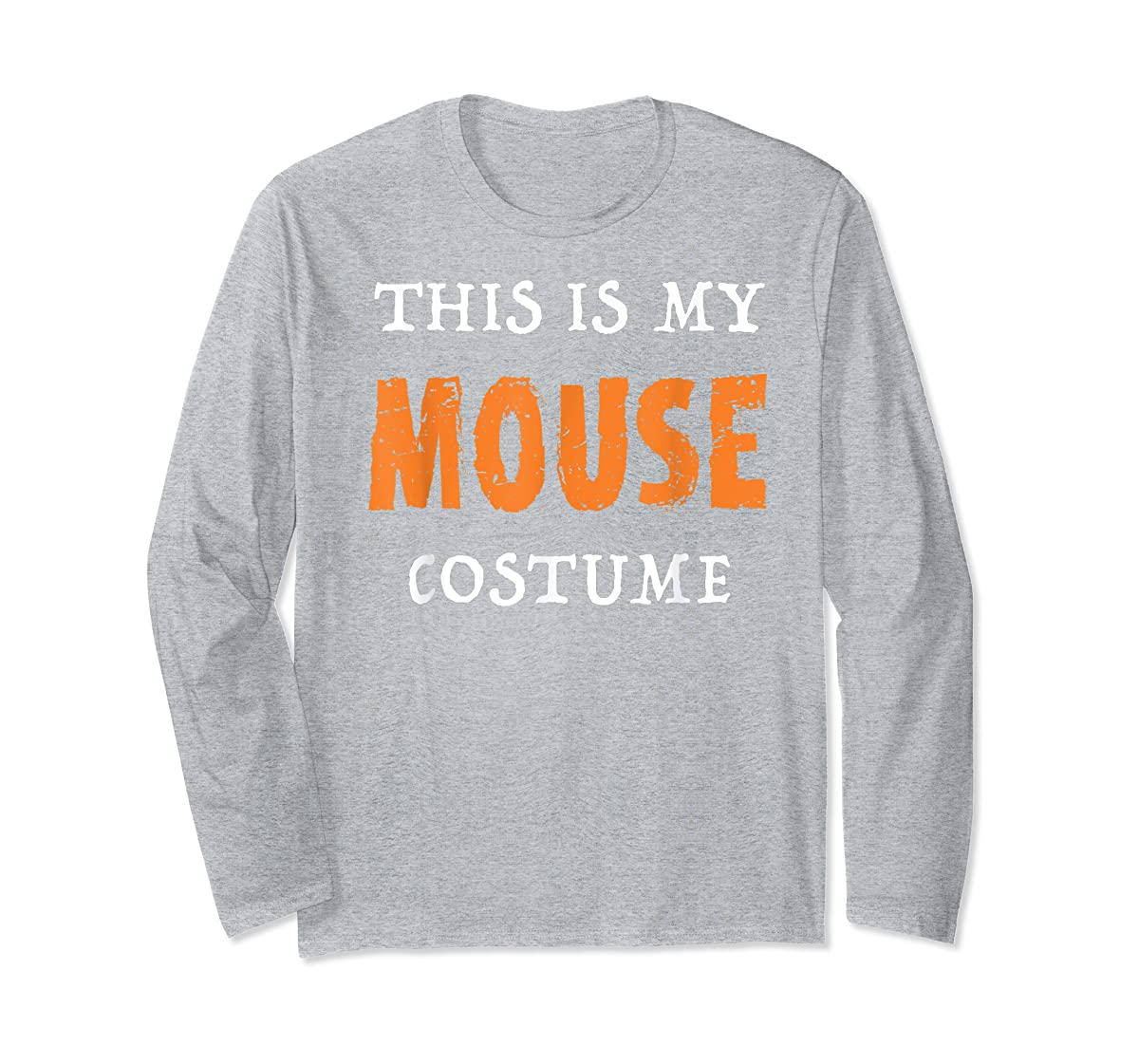 Funny This Is My Mouse Costume Halloween  T-Shirt-Long Sleeve-Sport Grey