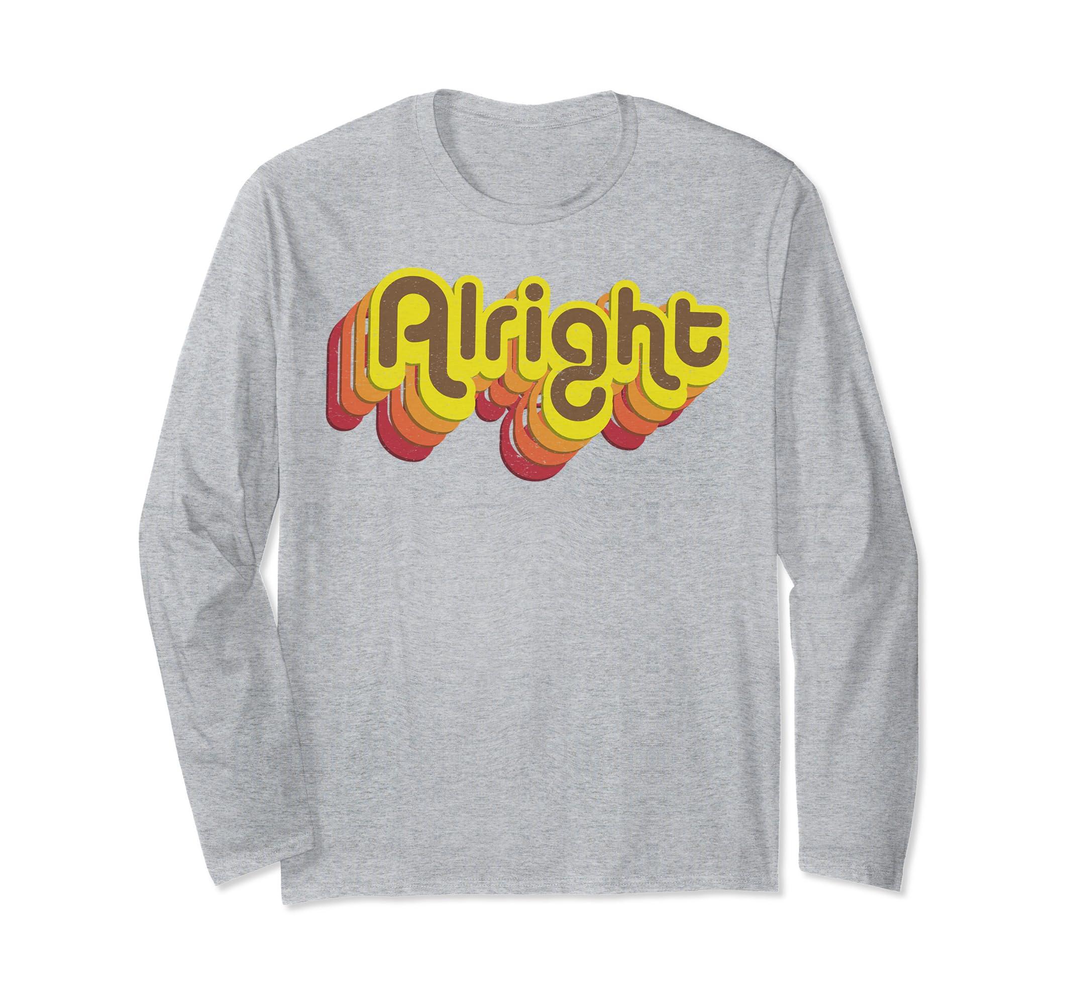 Alright Alright Longsleeve Shirt Retro 70s Long Sleeve Tee-ln