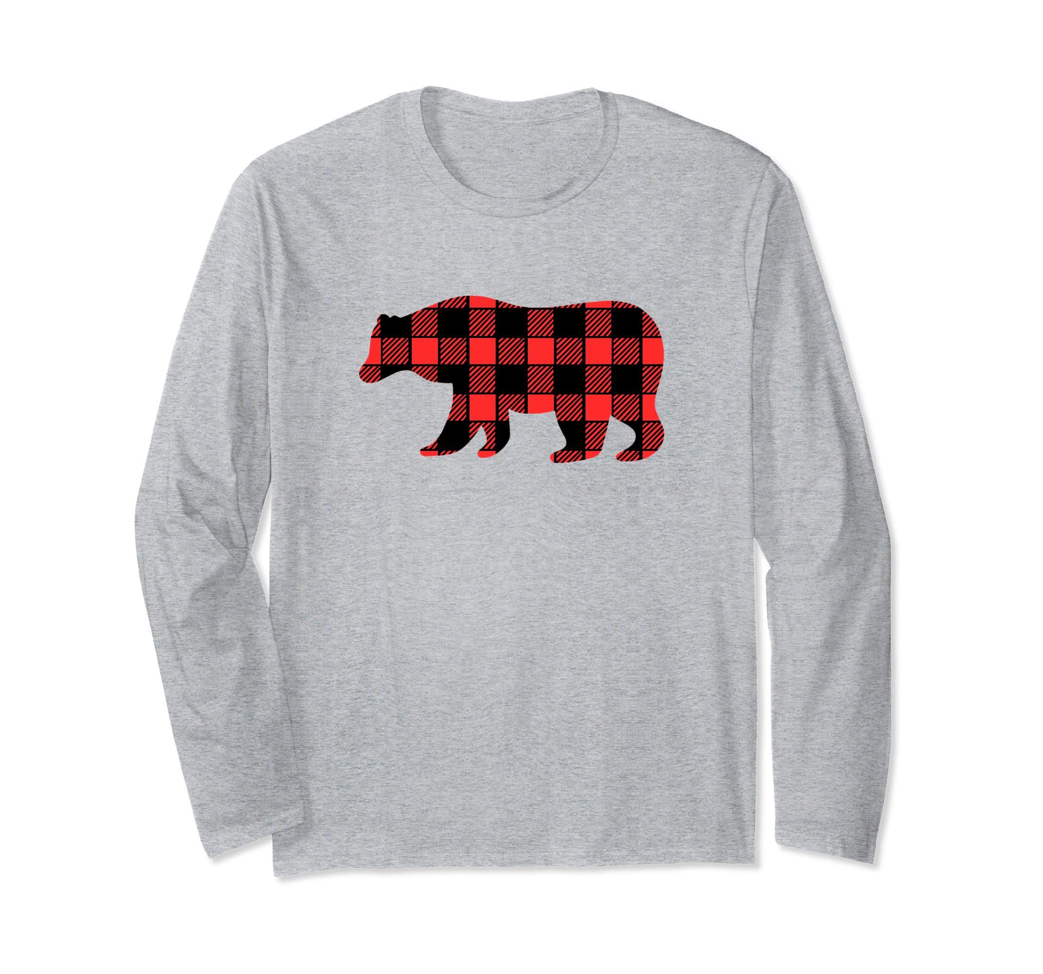 Buffalo Plaid Christmas Bear Winter Family Tee T-Shirt Shirt-SFL