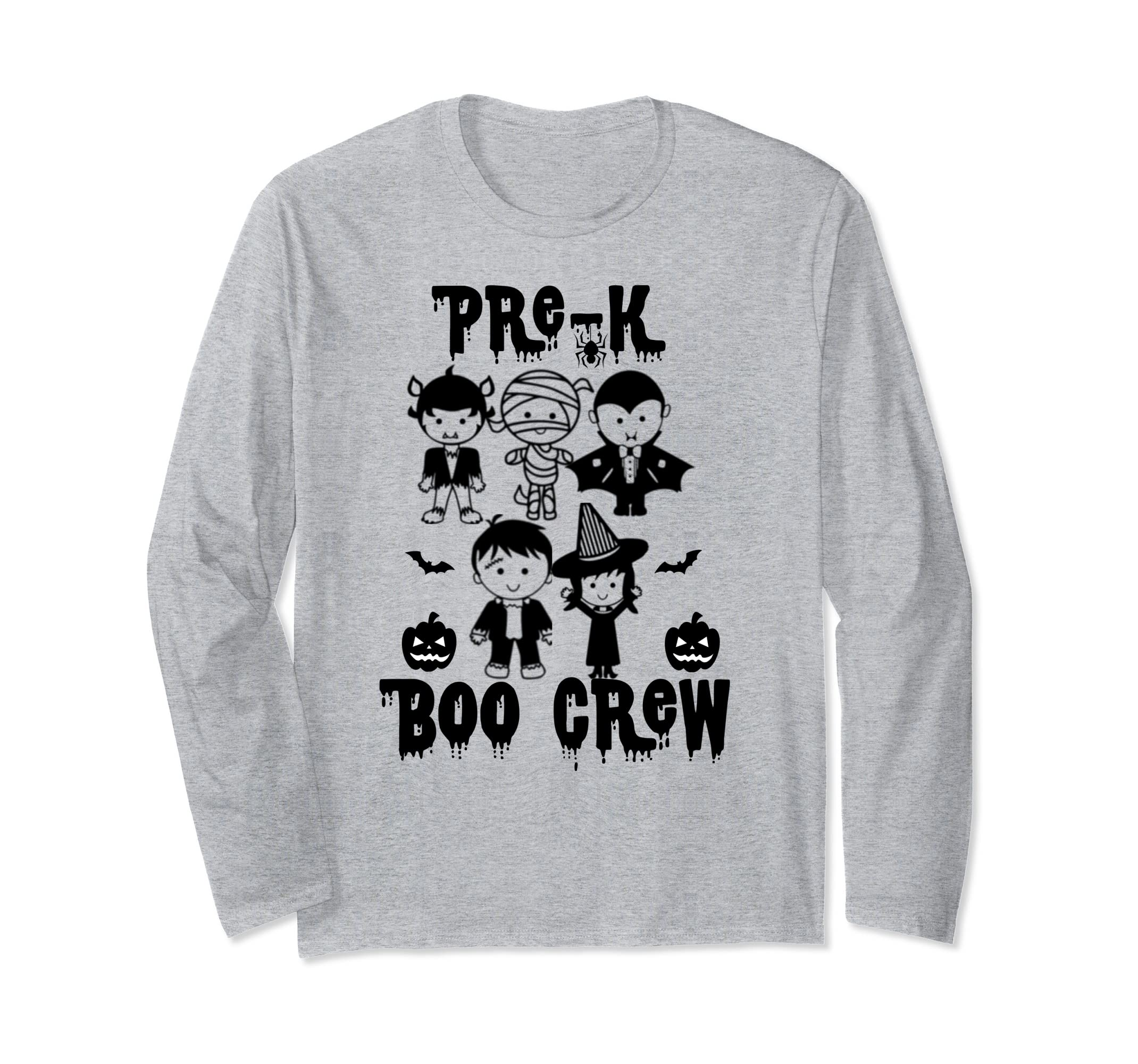 Pre-K Boo Crew Kids Halloween Monsters Matching Hoodie-ANZ