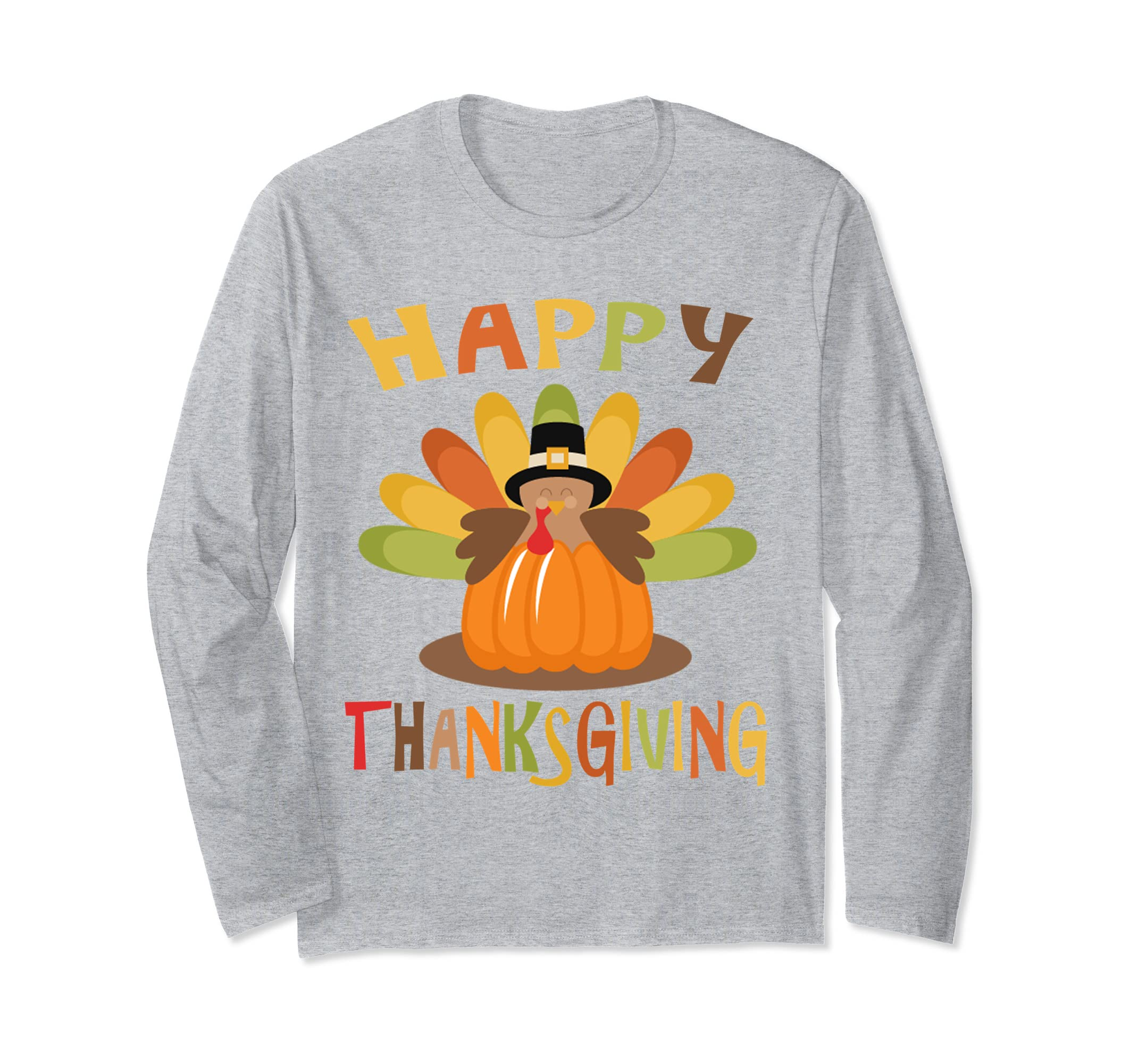 2018 Thanksgiving Tee Happy Thanksgiving Long Sleeve T Shirt-azvn