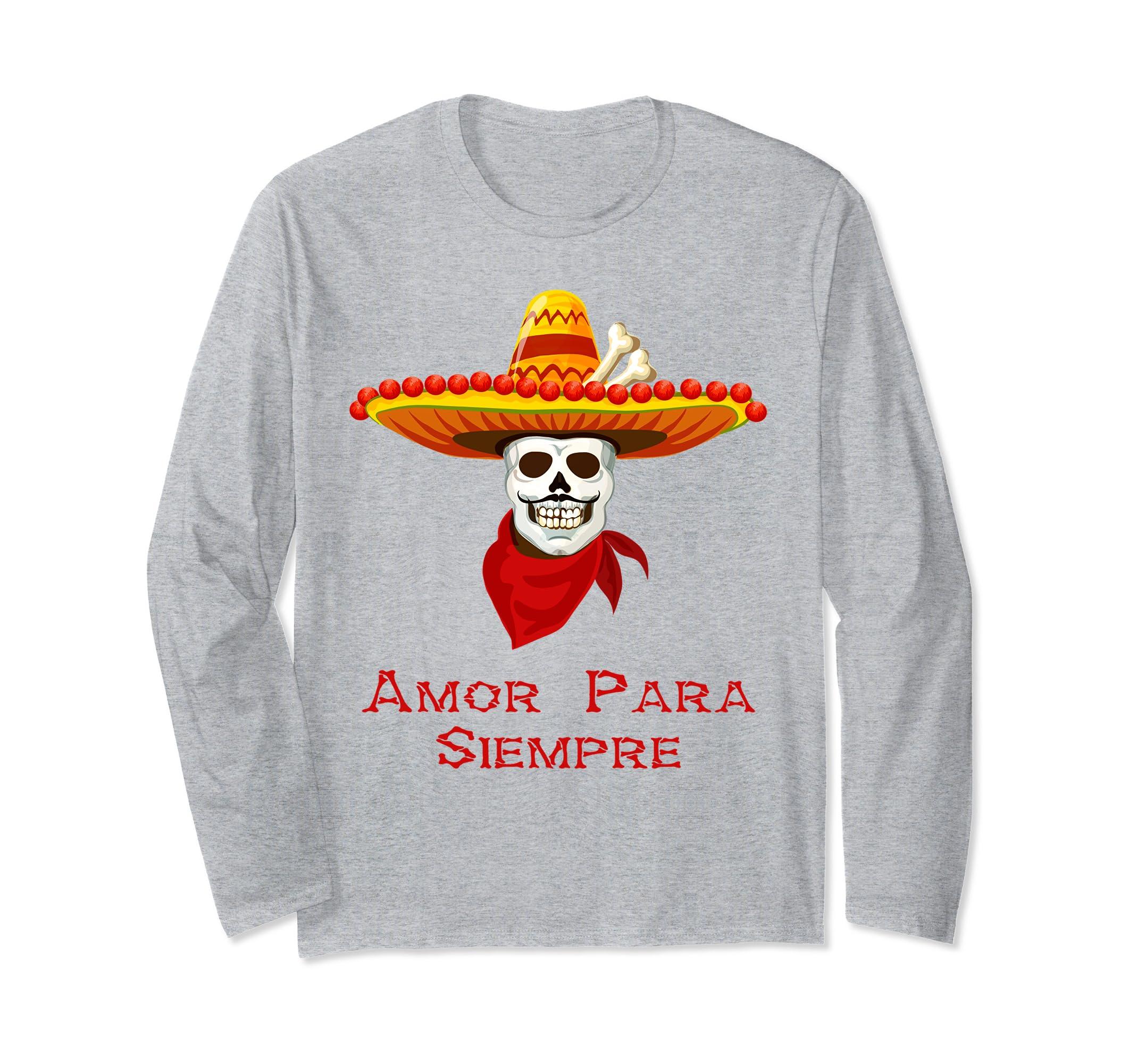 Amor Para Siempre Novelty Skeleton Long Sleeve Shirt-ln