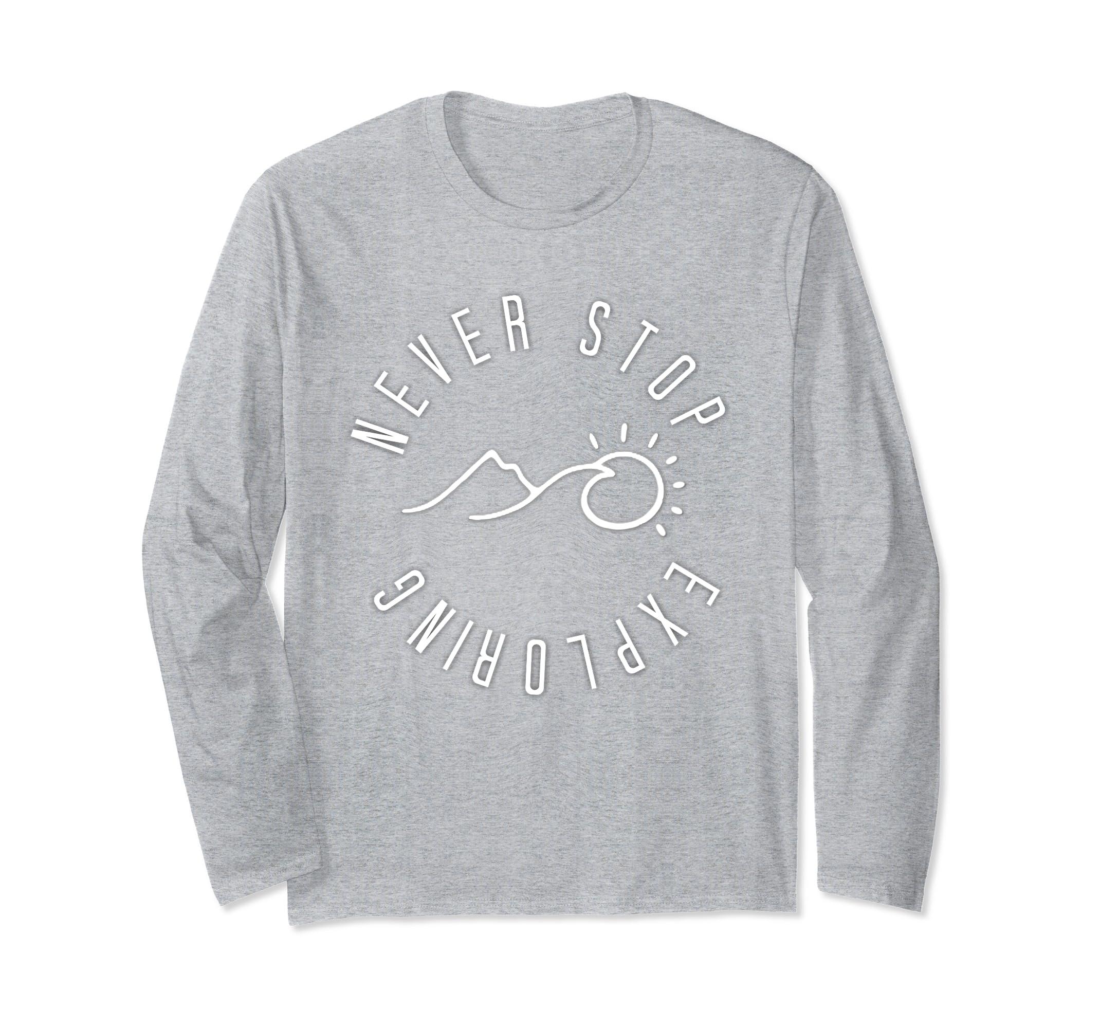 Fun Never Stop Exploring Outdoor Hiking Adventure Sweatshirt-ln