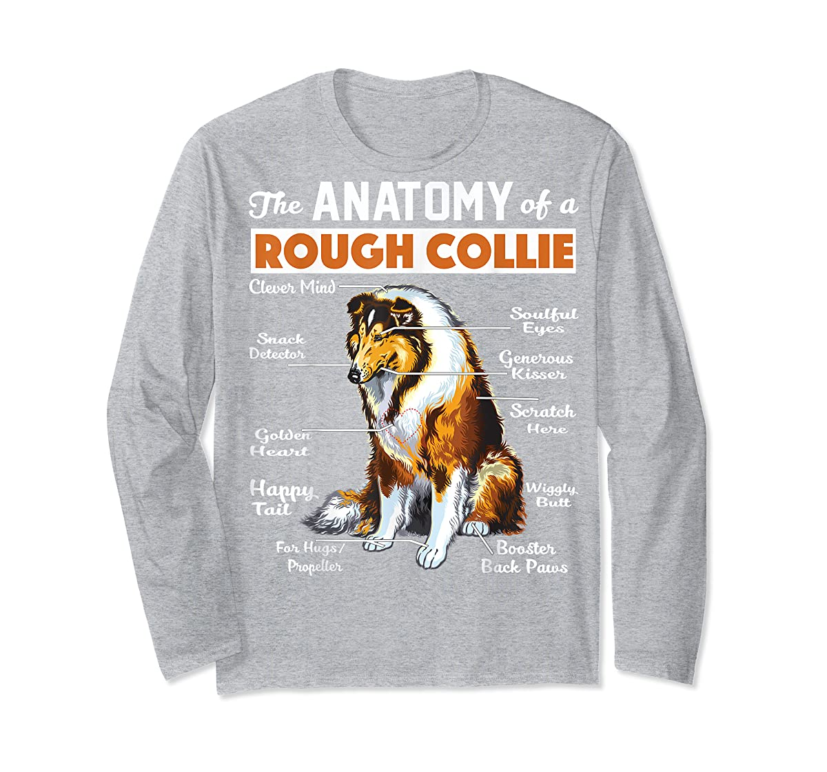 The Anatomy Of A Rough Collie-Long Sleeve-Sport Grey