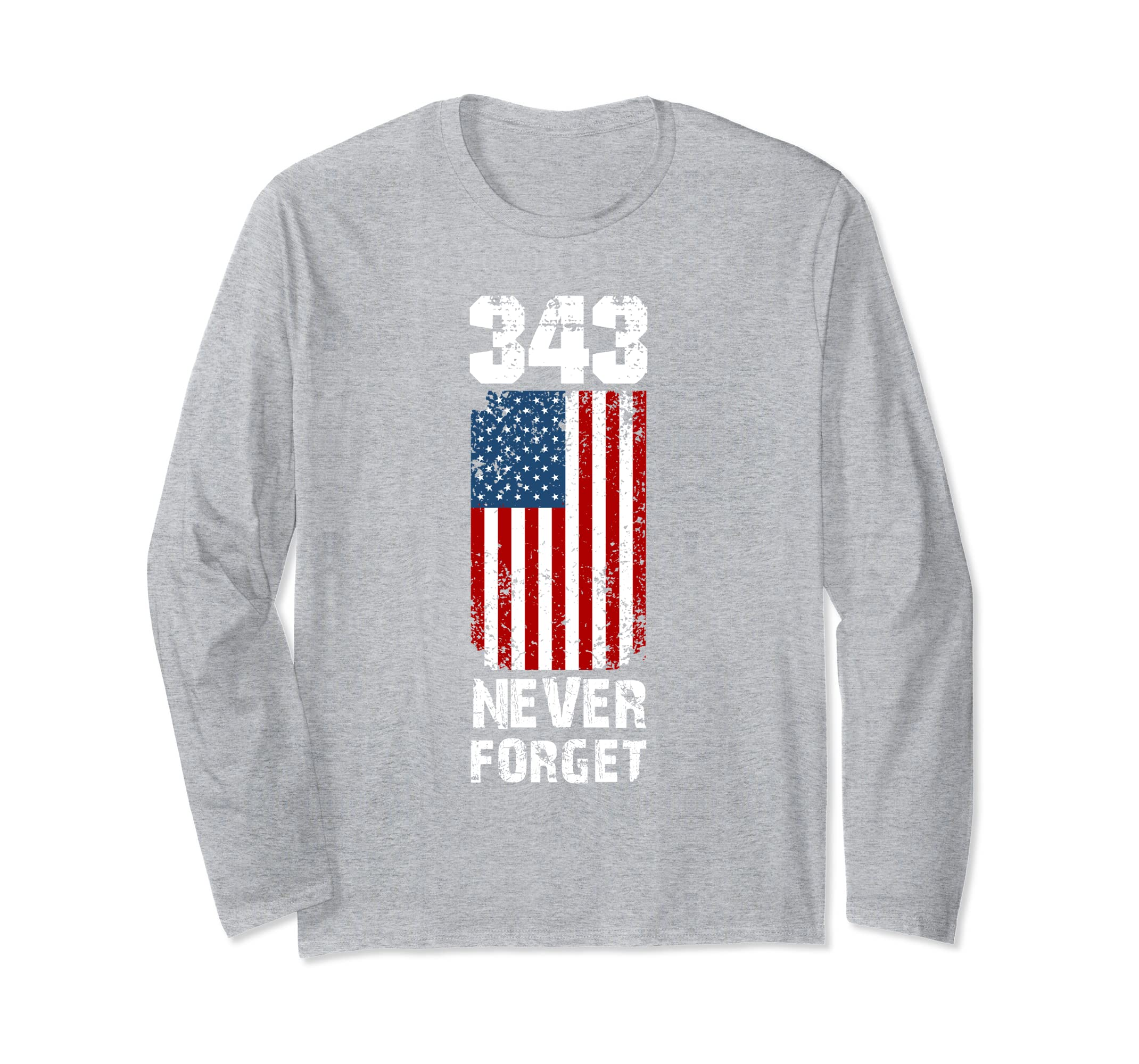 The 343 Firefighter Memorial Never Forget Long Sleeve Tee-Rose