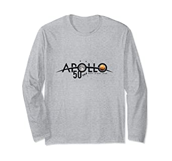 c9459efdf040 Image Unavailable. Image not available for. Color: Apollo Missions 50th  Anniversary NASA B Long Sleeve T-Shirt