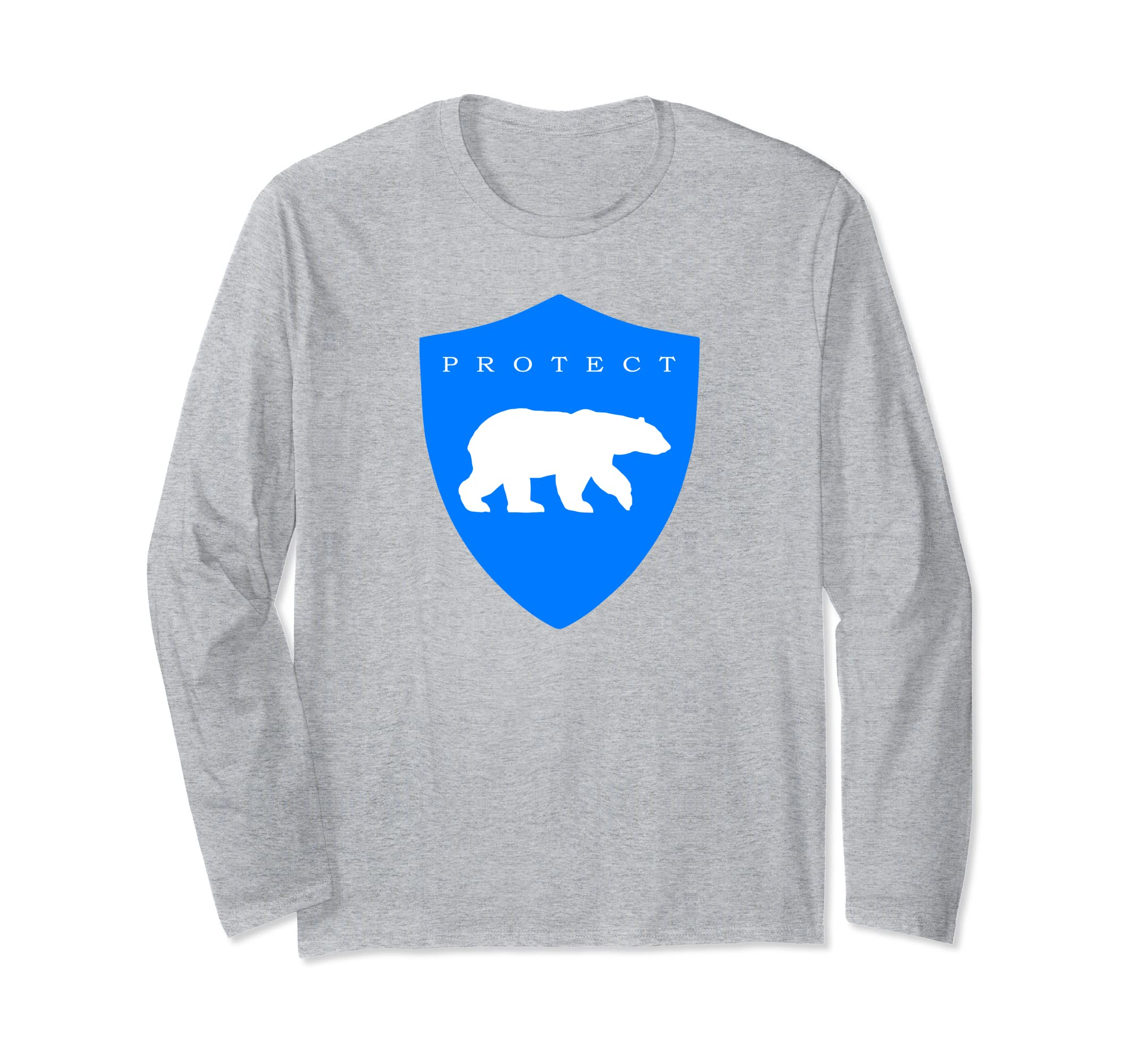 Protect Polar Bears Eco Awareness Long Sleeve T-Shirt-azvn