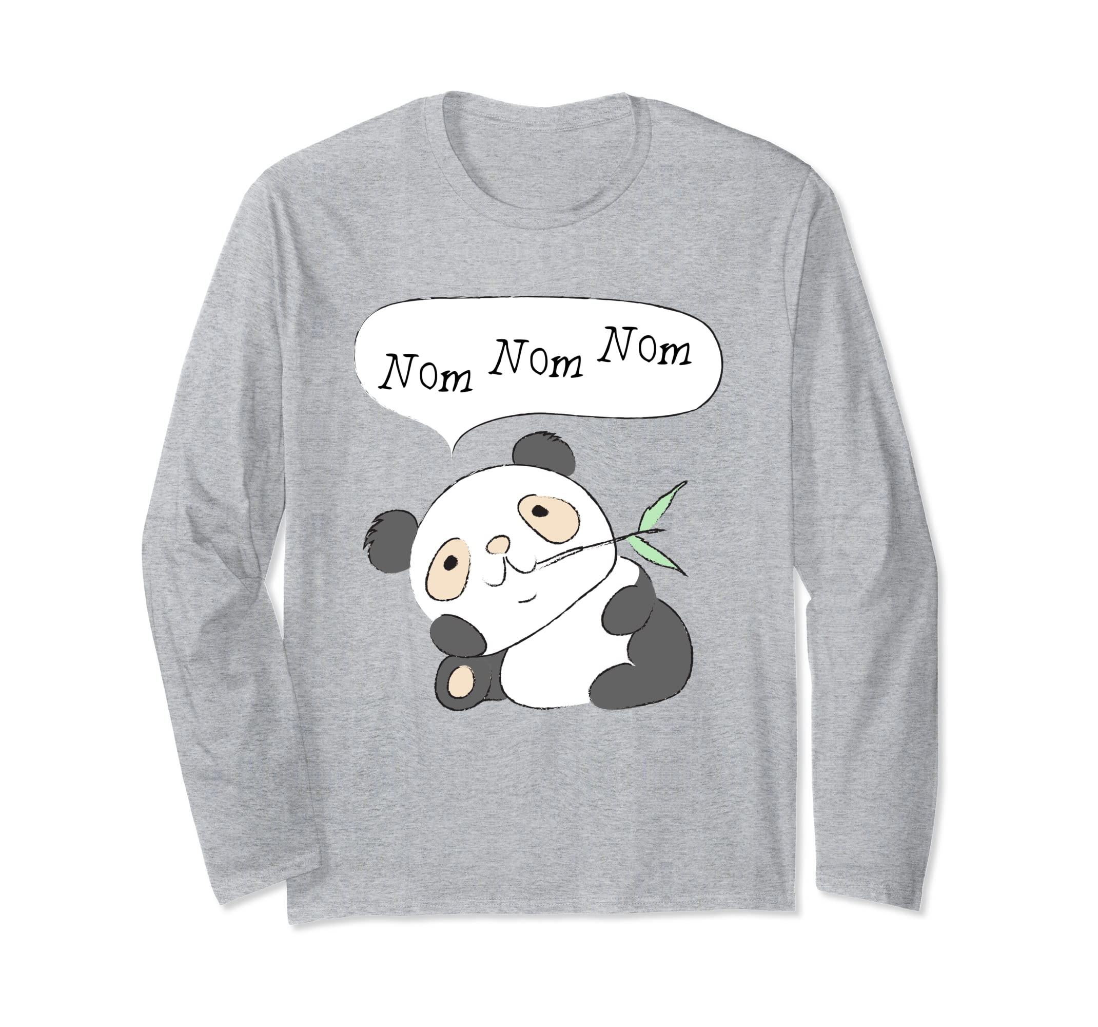 Nom Nom Nom Little Panda T-Shirt | Concrete Kitty-azvn