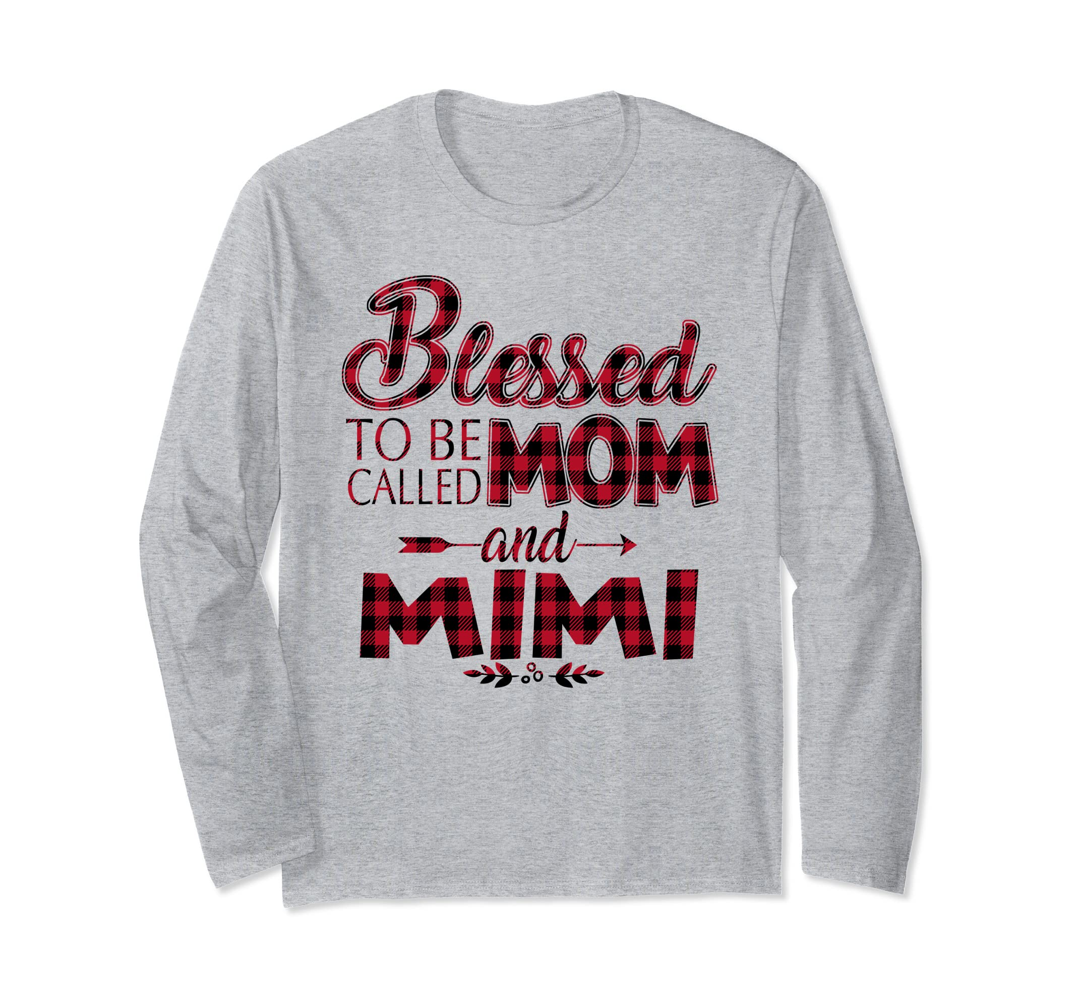 704866c7 Amazon.com: Blessed To Be Called Mom and Mimi Caro - LongsleeveT: Clothing