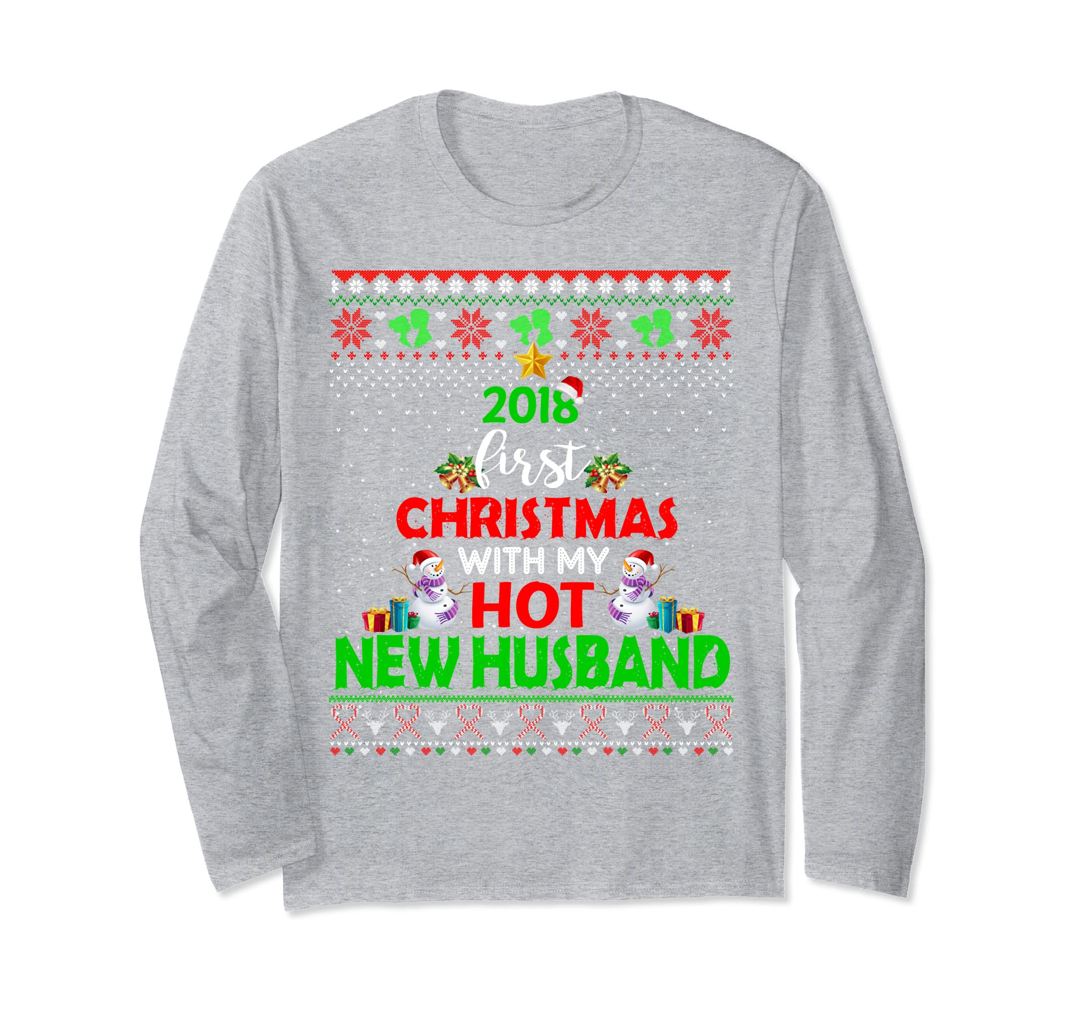 2018 First Christmas With My Hot New Husband Long Sleeve-azvn