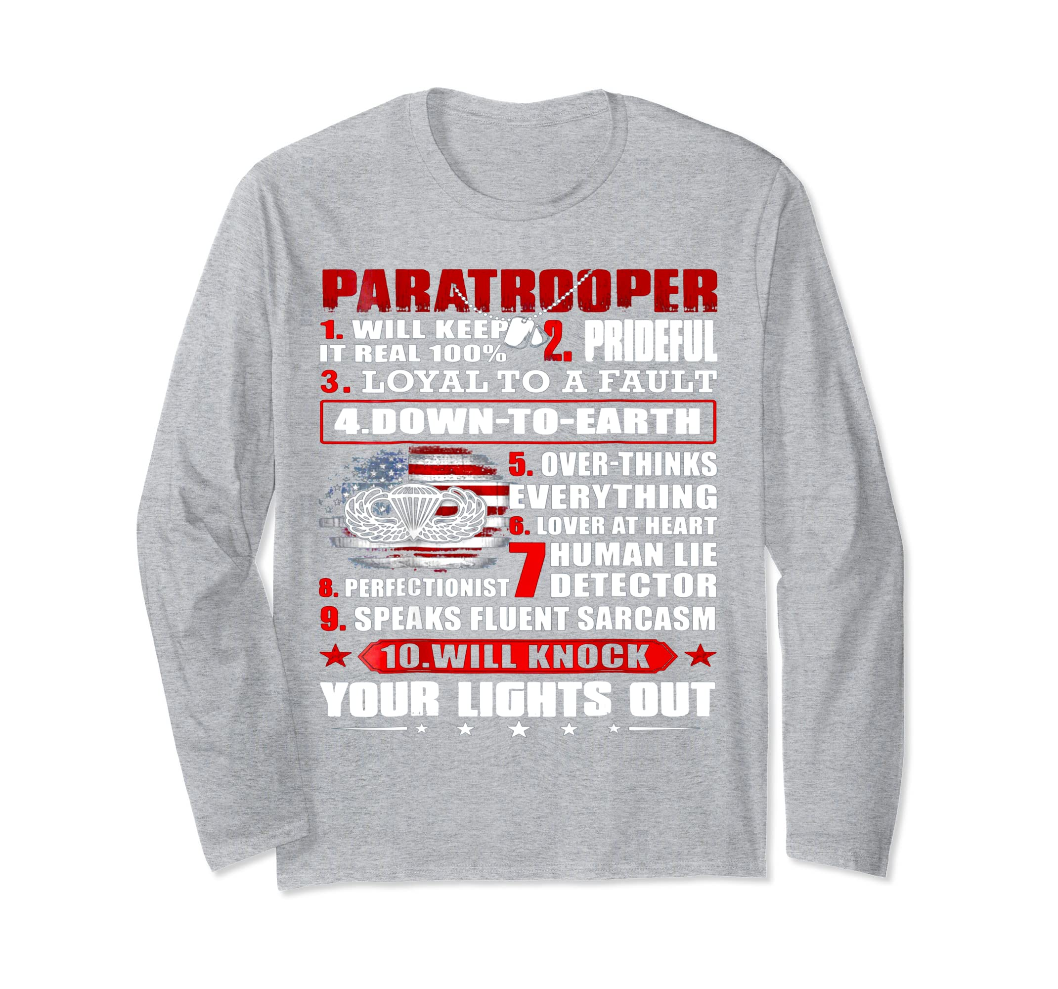 10 Things About Paratrooper Long Sleeve T Shirt-ln