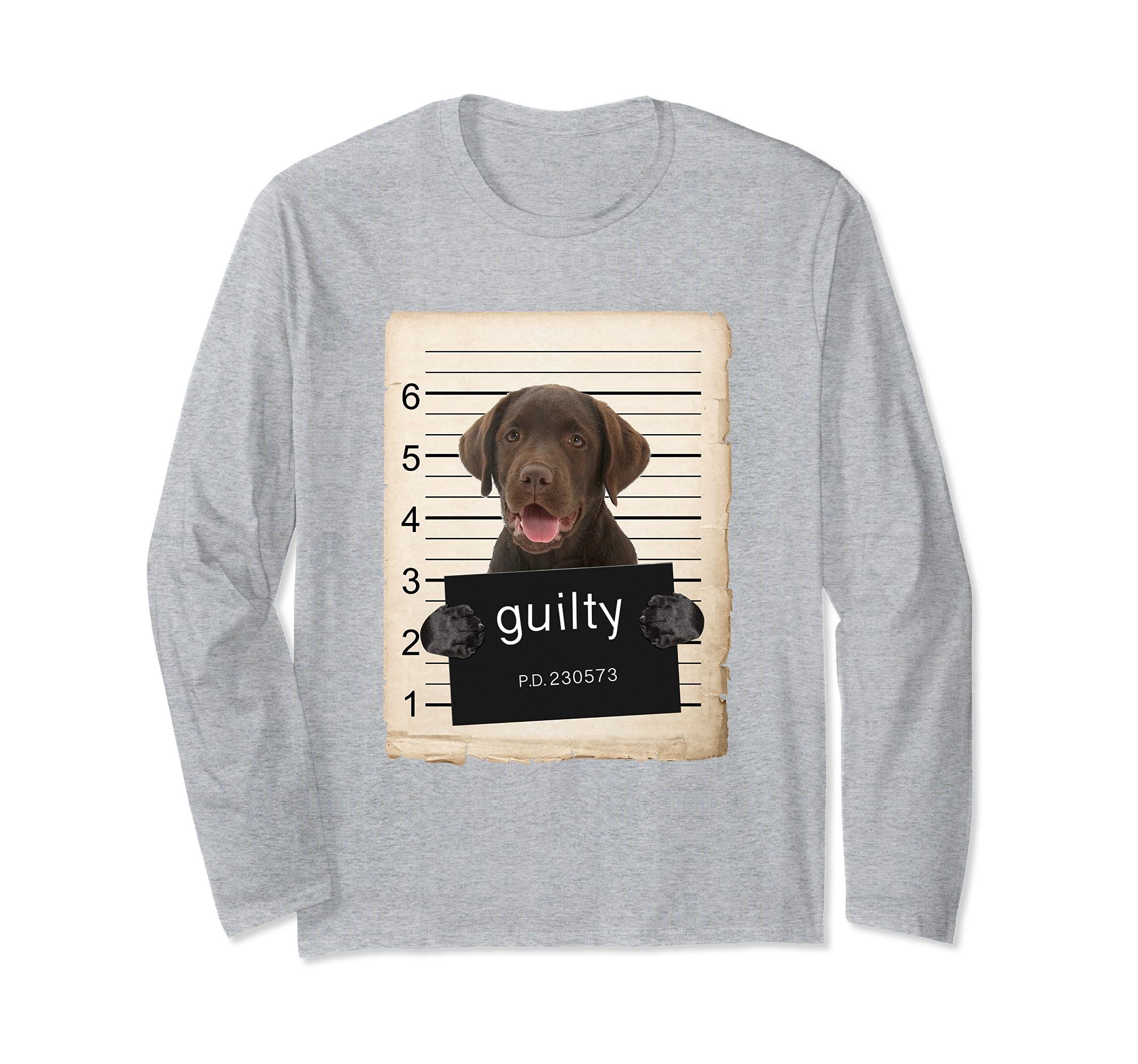 chocolate Labrador Dog mug shot Long Sleeve Shirt-ln