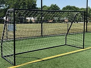 Vallerta Premier 12 X 6 Ft. AYSO Youth Regulation Size Soccer Goal w/Weatherproof 4mm Net. 50MM Diameter Black Powder Coated/Corrosion Resistant Frame. 12x6 Foot Practice Aid(1Net) ONE Year Warranty!