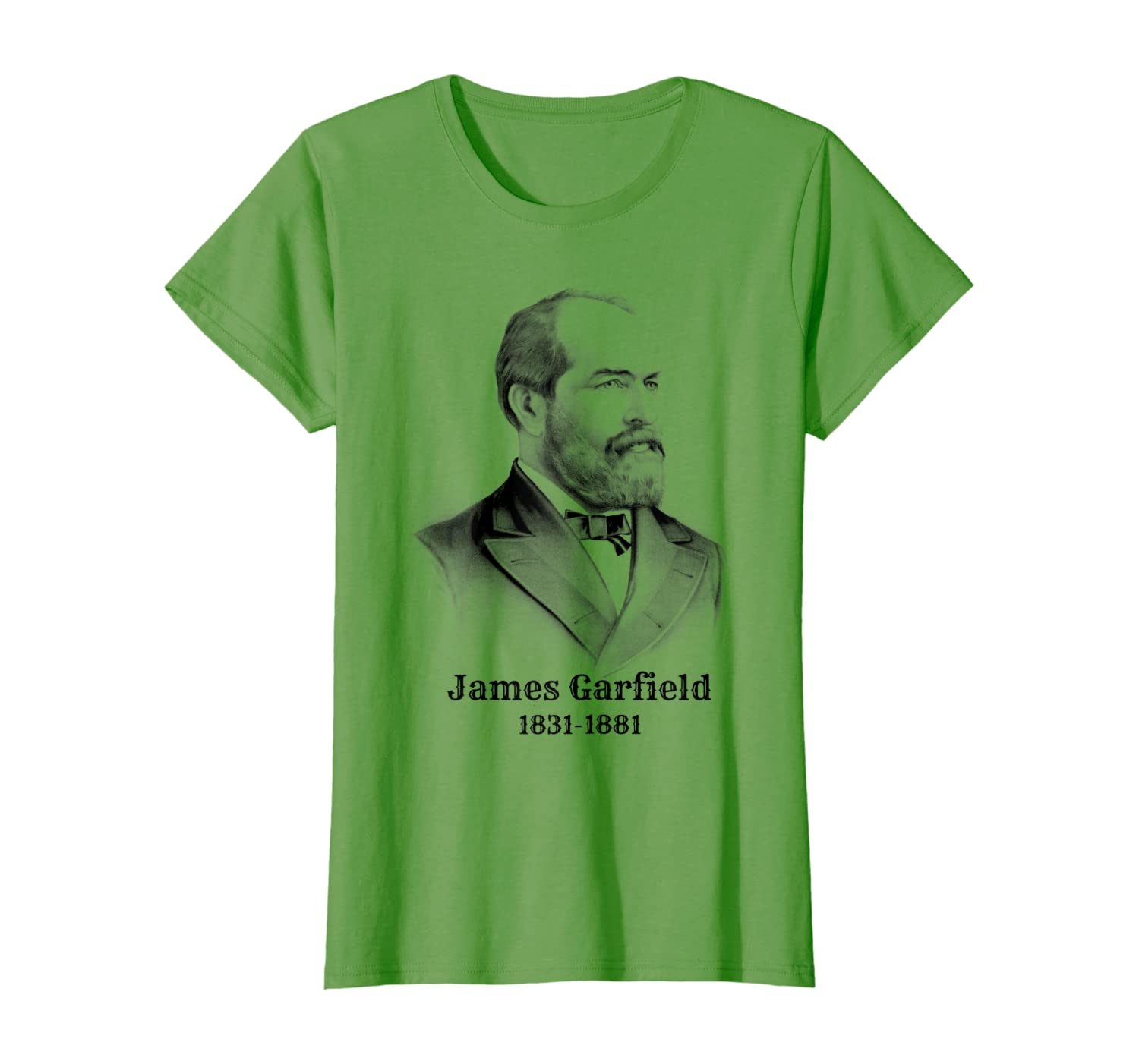 Amazon Com James Garfield T Shirt Vintage American Presidents Tee Clothing