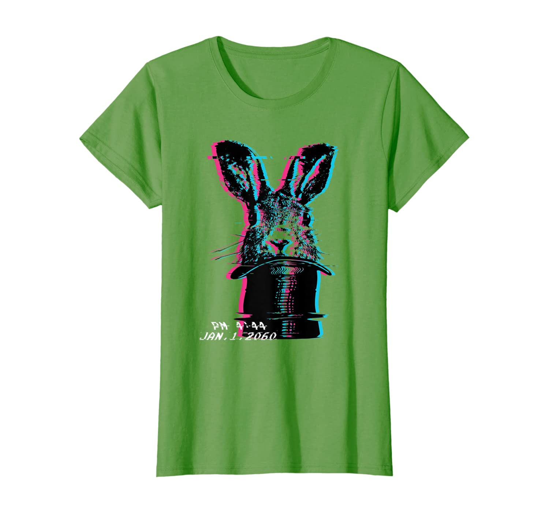 Glitch Art Rabbit Hat Magic Trick Future Vaporwave Aesthetic T-Shirt