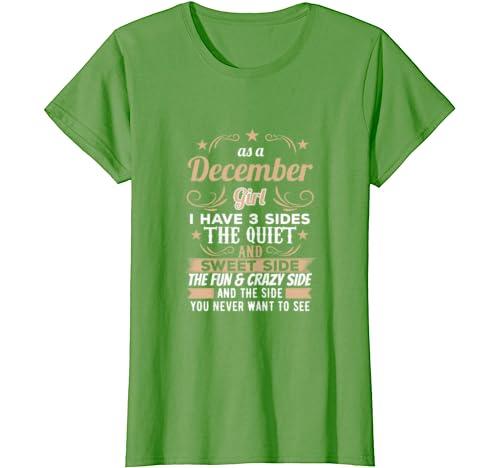 Amazon Com As A December Girl Birthday Shirt Tee Bday Tee Clothing